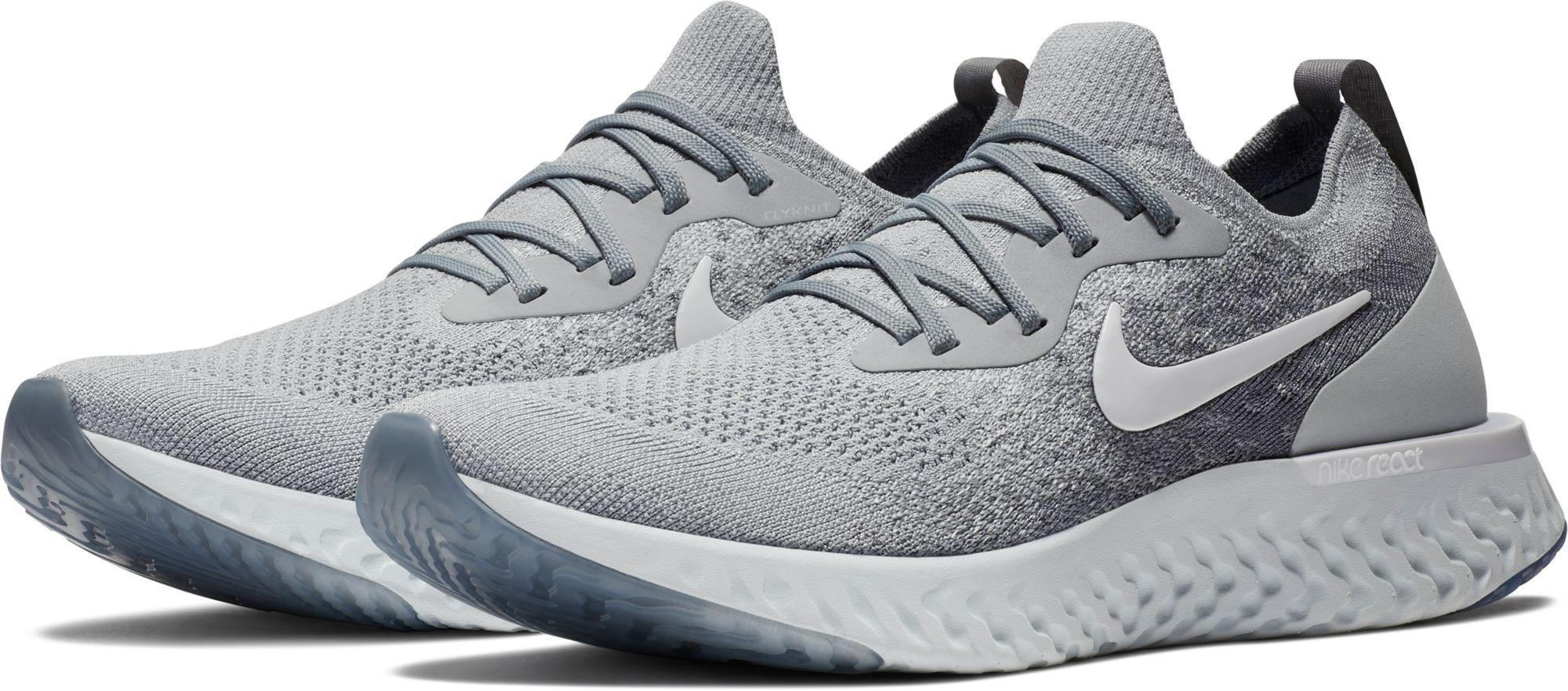 d726c486d675 Lyst - Nike Epic React Flyknit Running Shoes in Gray for Men