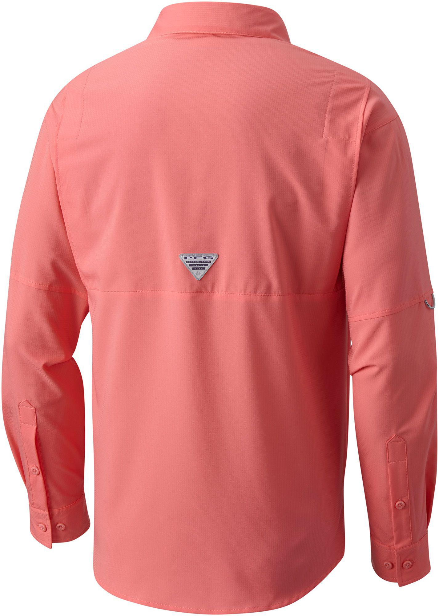 3a57fdf059c Columbia Pfg Tamiami Ii Long Sleeve Shirt in Pink for Men - Lyst
