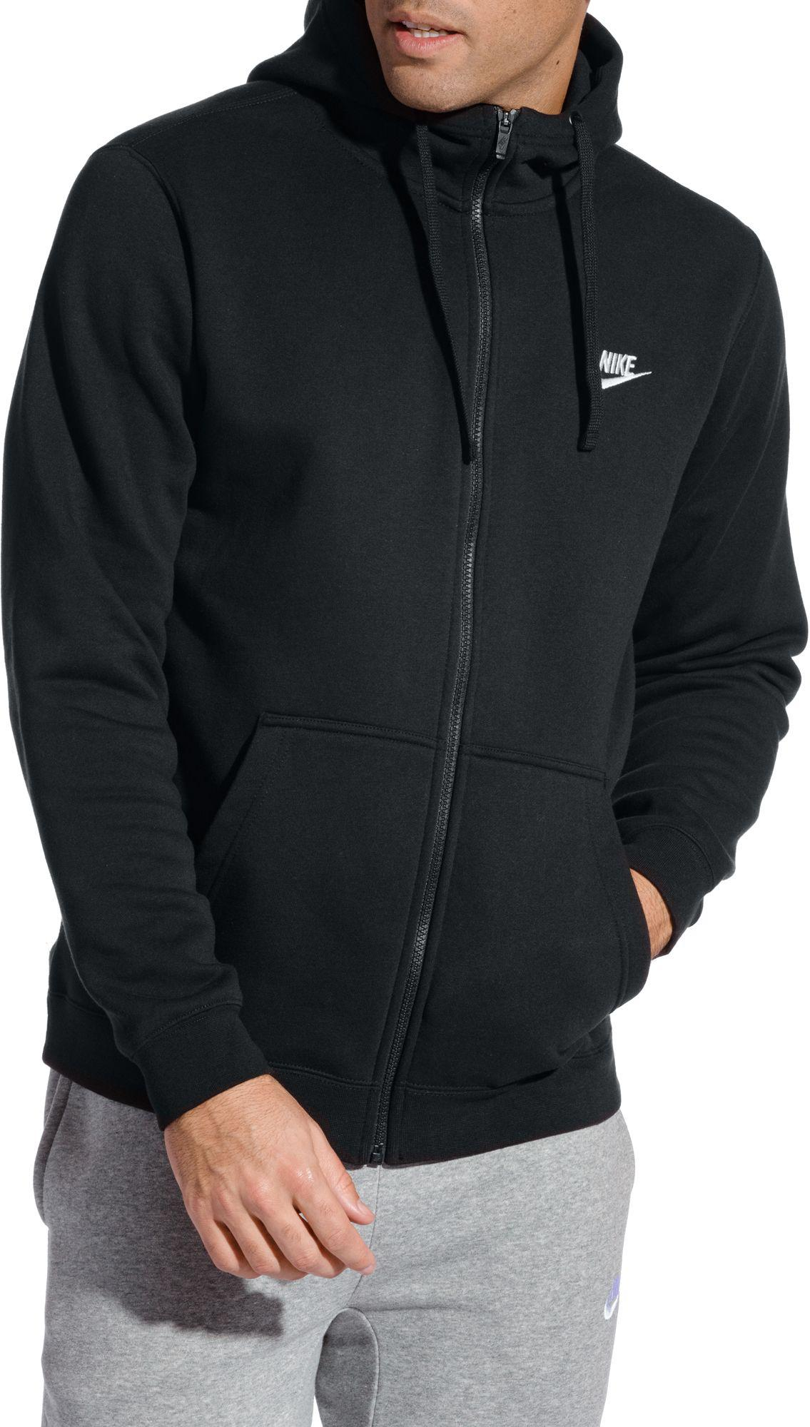 13aad155f6f9 Lyst - Nike Sportswear Club Fleece Full Zip Hoodie in Black for Men
