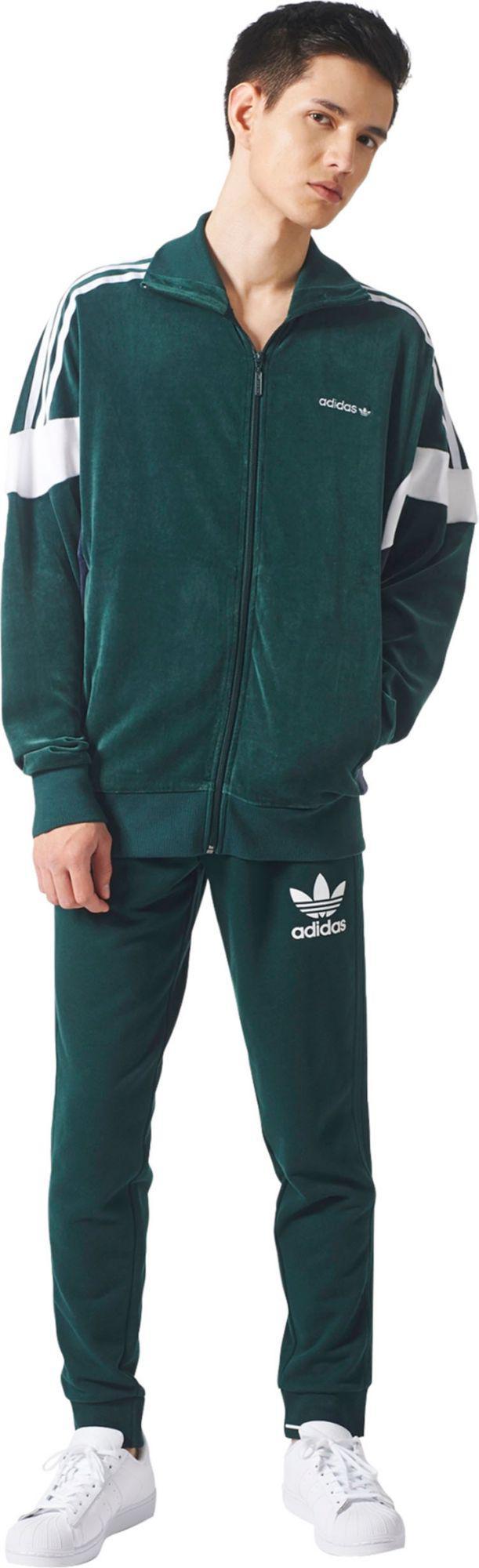 Lyst Adidas Originali 3 Tuta Strisce Francese Terry Tuta 3 Verde f14138