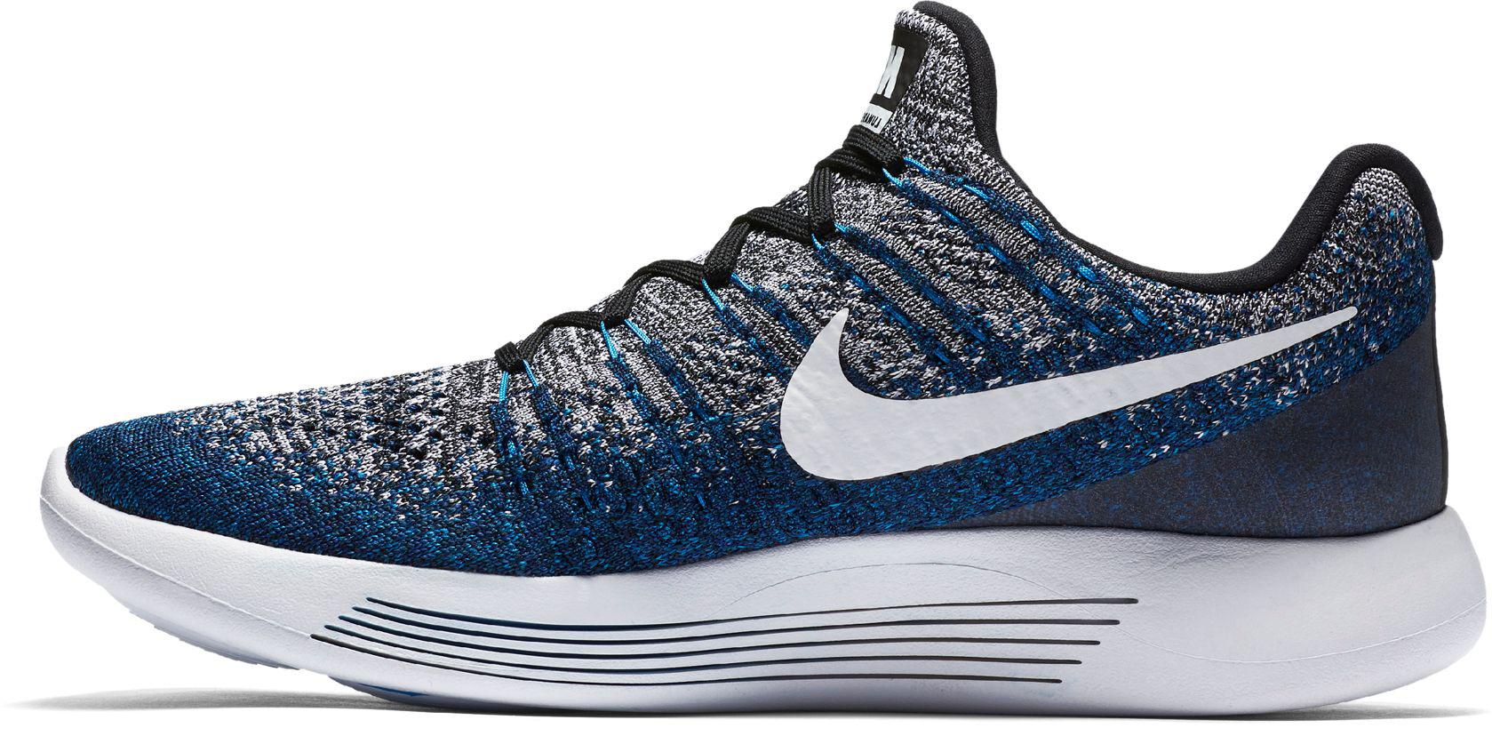 02b5ff2300a5 Lyst - Nike Lunarepic Low Flyknit 2 Running Shoes in Blue for Men