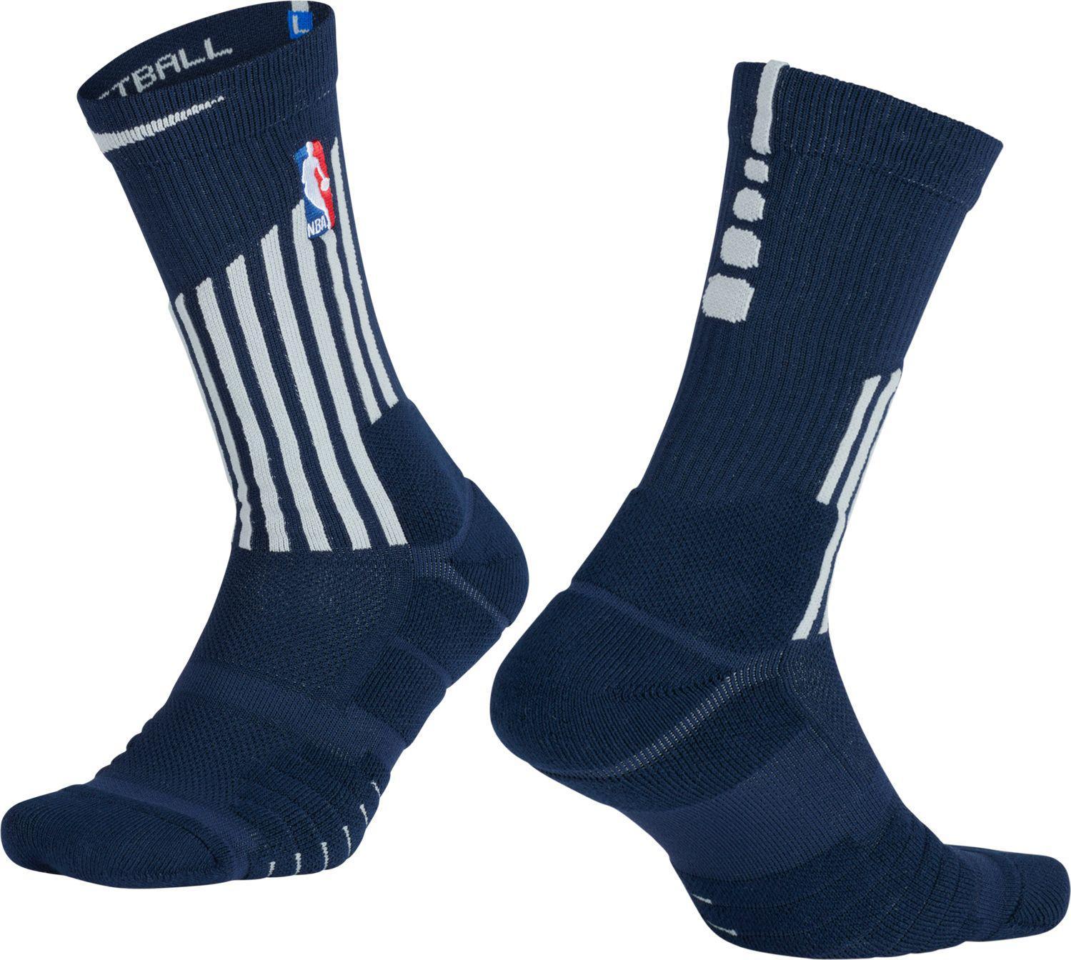 99b105b37 Nike Detroit Pistons City Edition Elite Quick Nba Crew Socks in Blue ...
