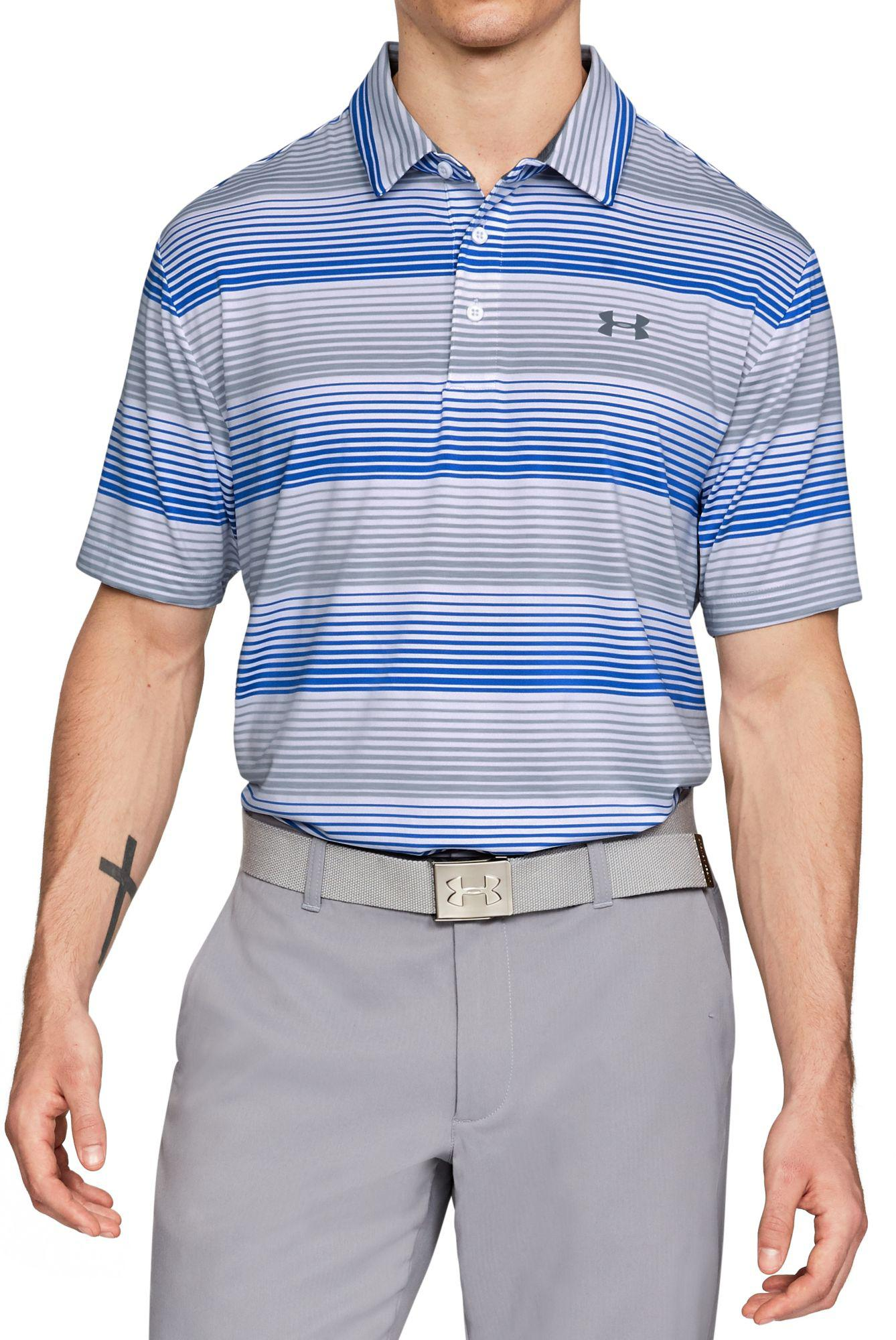 78fe3a3db0 Under Armour Playoff Blast Stripe Golf Polo in White for Men - Lyst