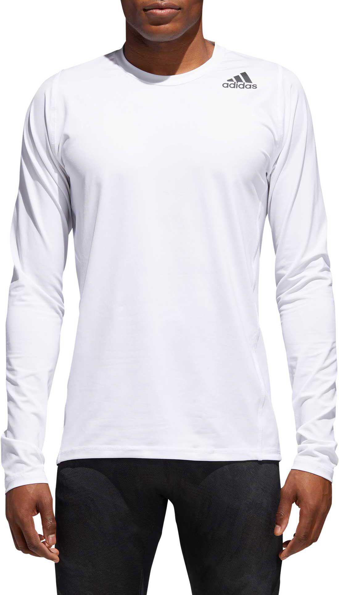 0109ed46005e5 Adidas - White Alphaskin Sport Fitted Long Sleeve Training T-shirt for Men  - Lyst. View fullscreen