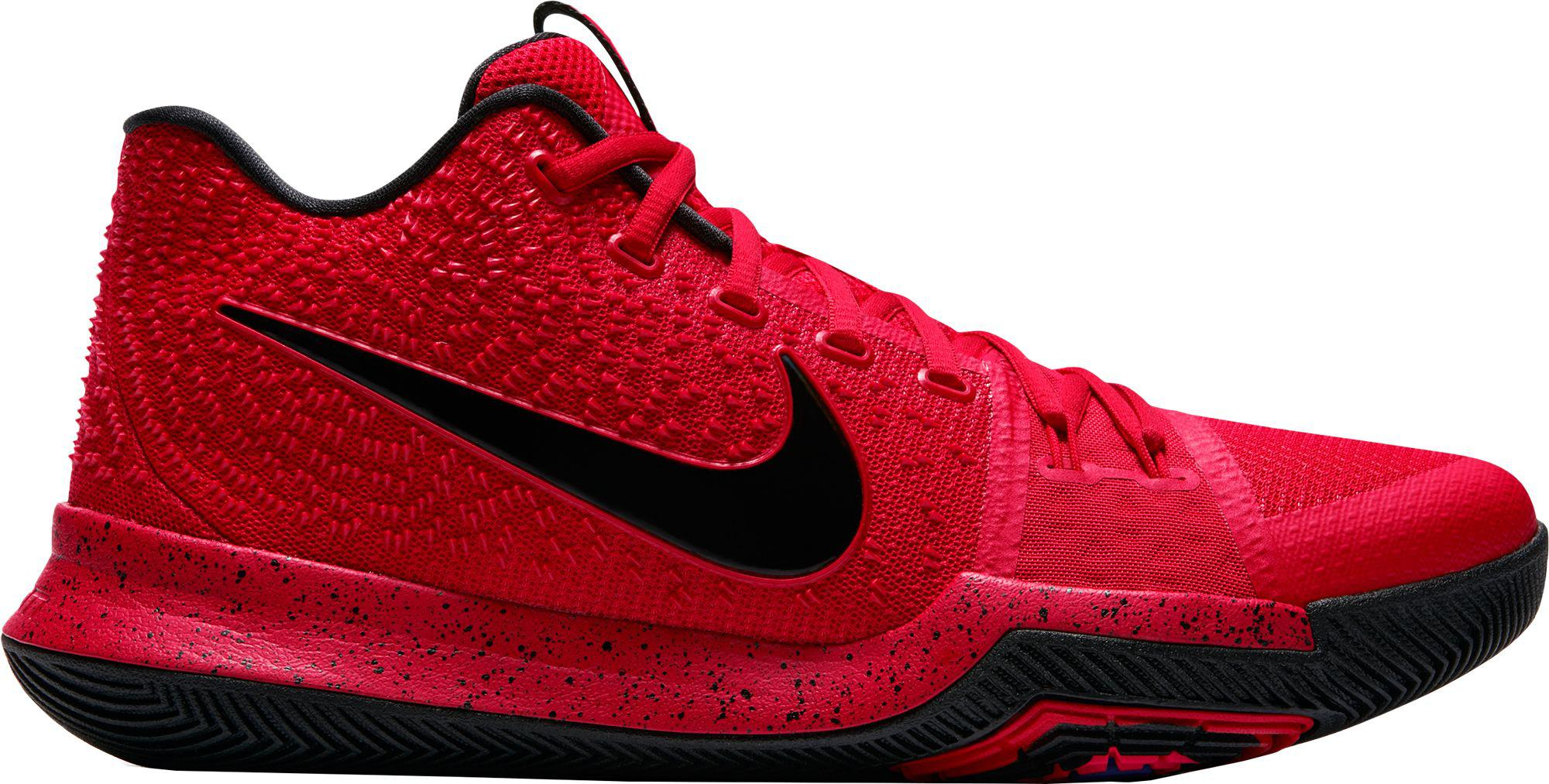 Lyst - Nike Kyrie 3 Basketball Shoes in Red for Men 1a91ec8f7