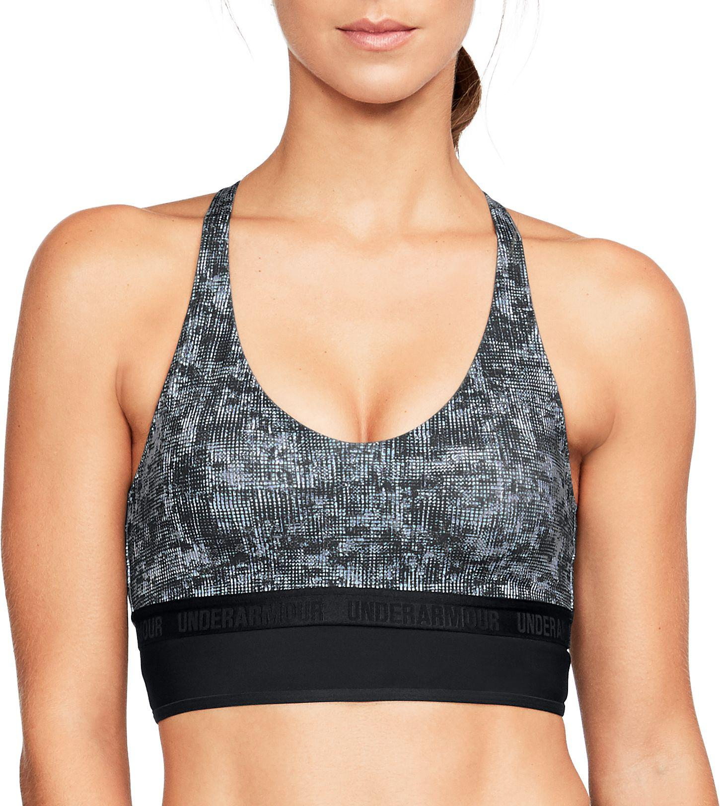 039daf72e51ff Lyst - Under Armour Printed Mesh Triangle Back Low-impact Sports ...