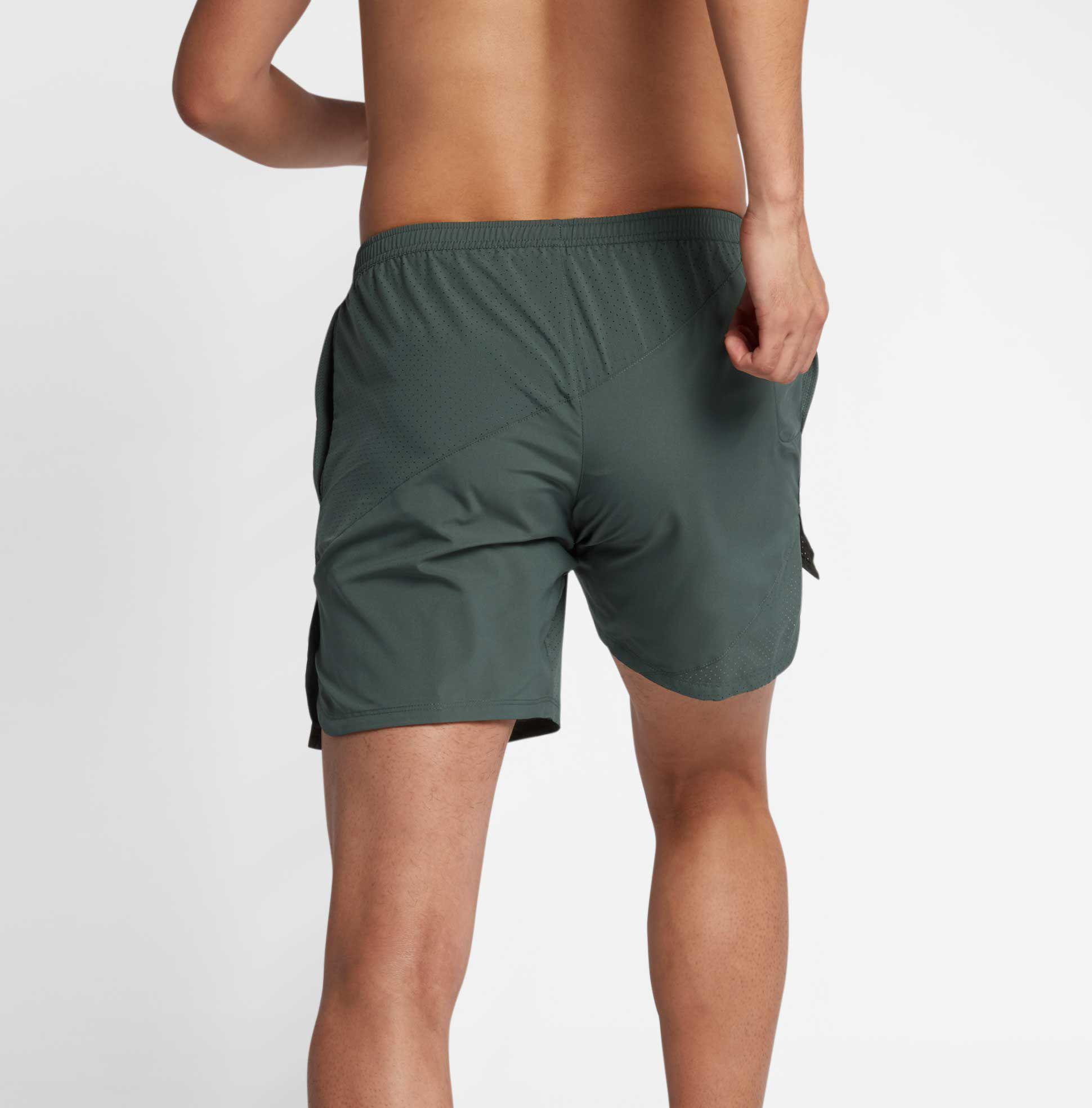 e21f04971a17 Lyst - Nike 7   Flex Distance Running Shorts in Green for Men