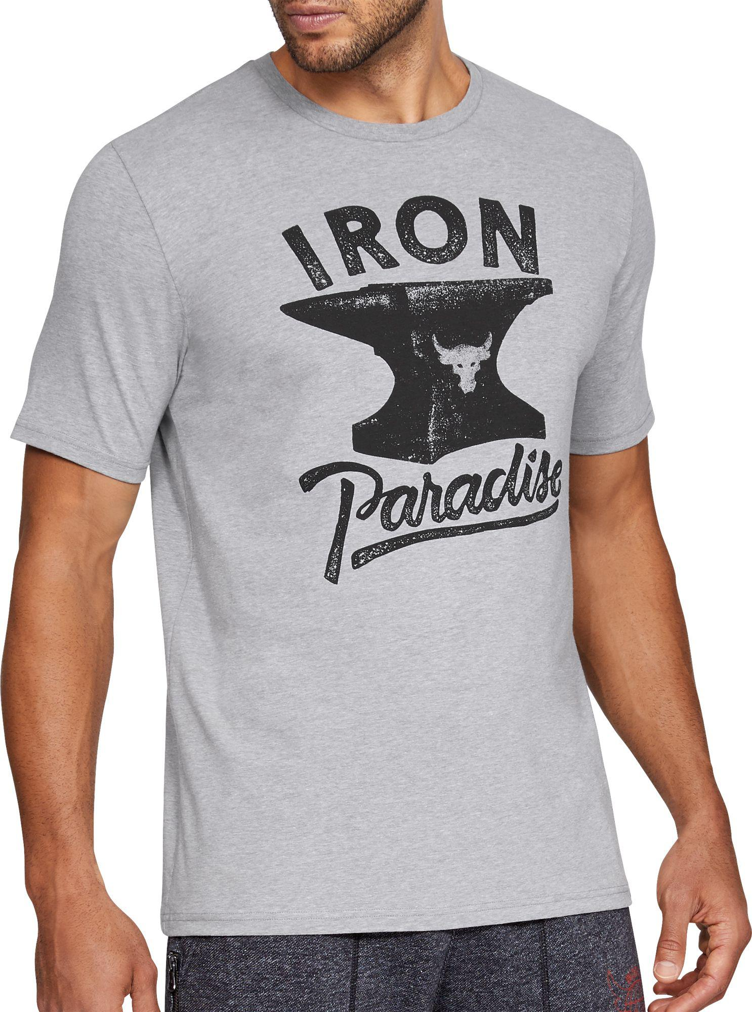 under-armour-Steel-Light-Heather-Project-Rock -Iron-Paradise-Graphic-T-shirt.jpeg 08fdd523ecf4