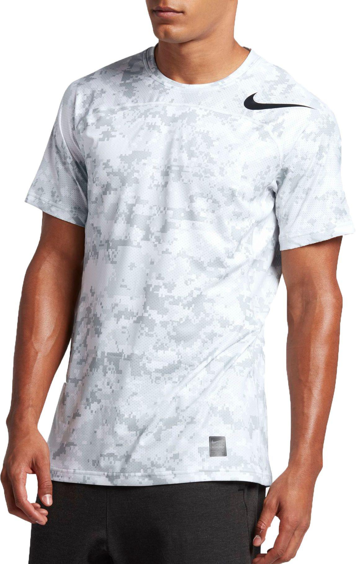2384d20d3 Nike Pro Hypercool Digi Camo Printed Fitted T-shirt in White for Men ...
