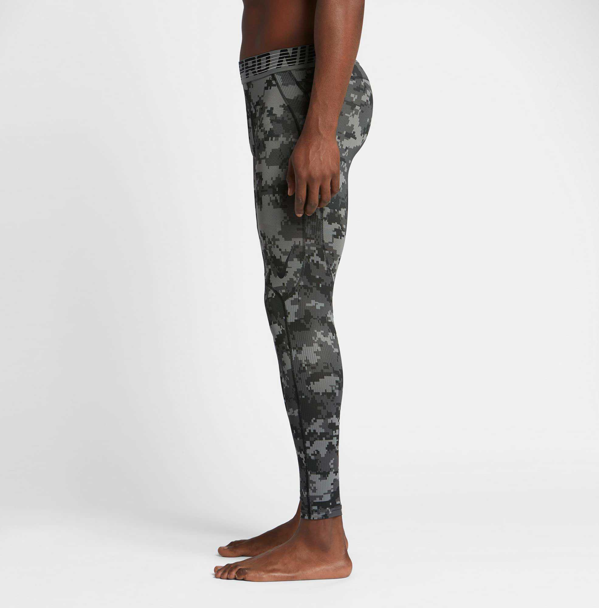 39603482648d8 Nike Pro Hypercool Digi Camo Printed Tights in Black for Men - Lyst