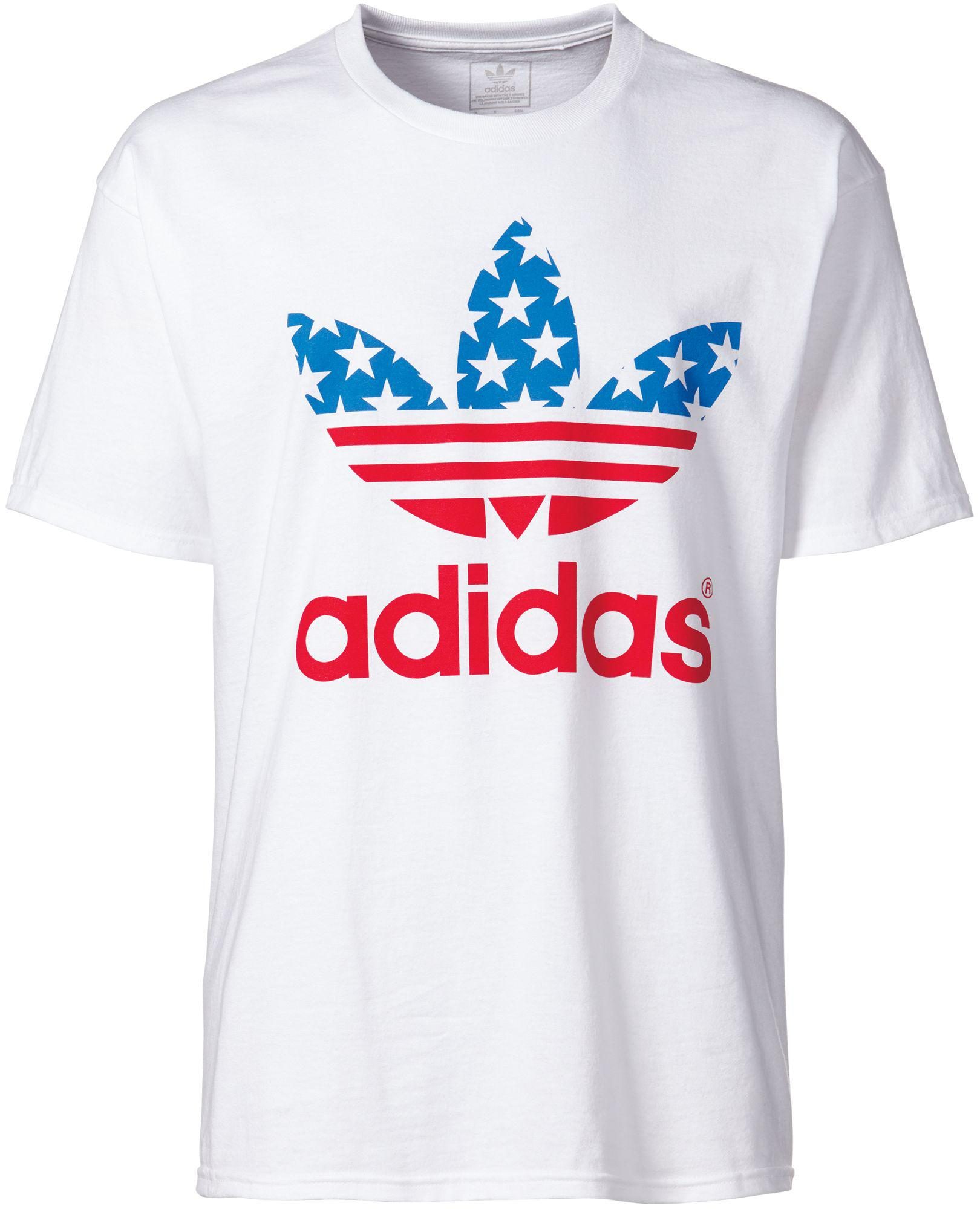 Lyst adidas Originals Trefoil camiseta americana en blanco para hombres