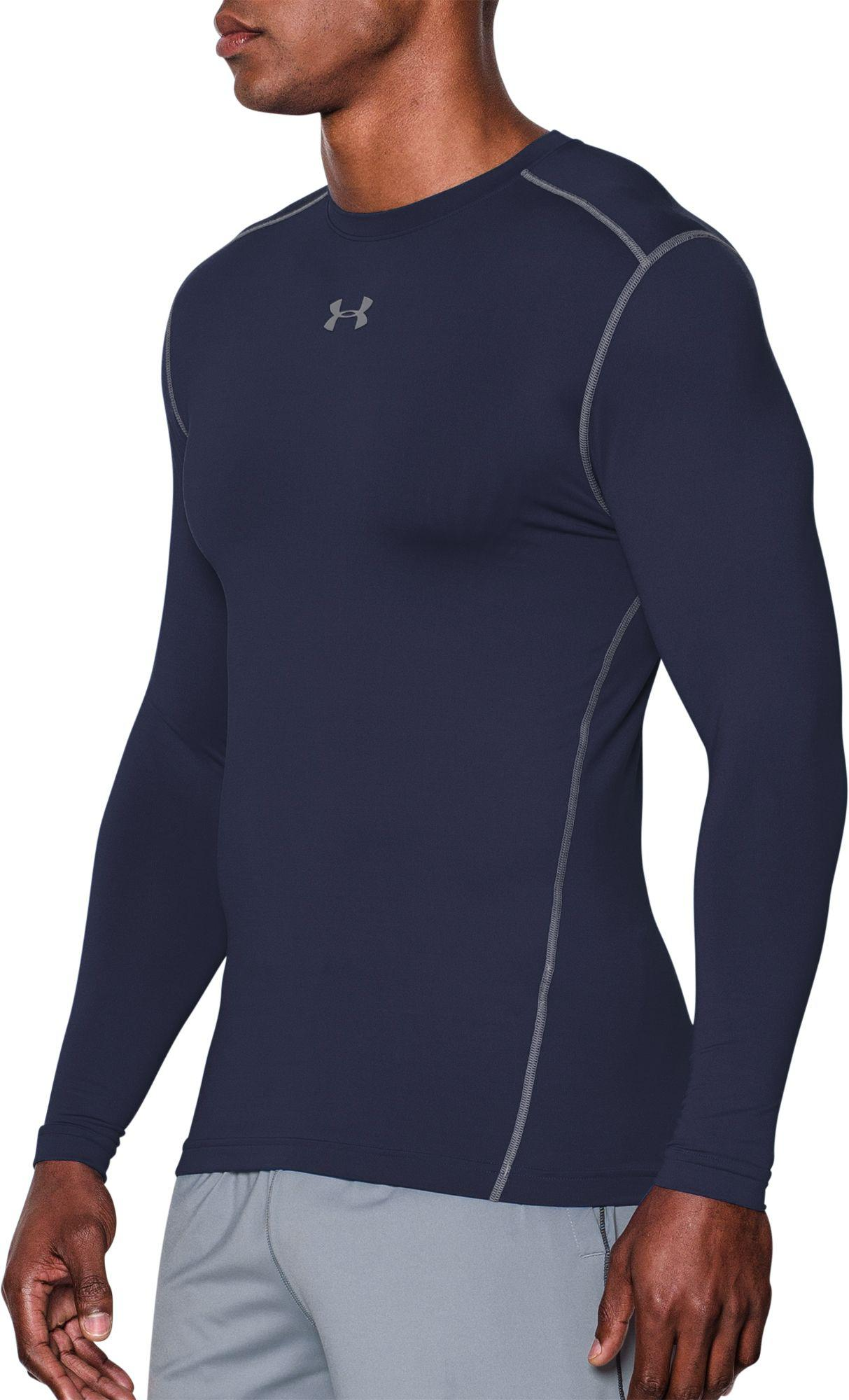 688fda3ec Under Armour - Blue Coldgear Armour Compression Crewneck Long Sleeve Shirt  for Men - Lyst