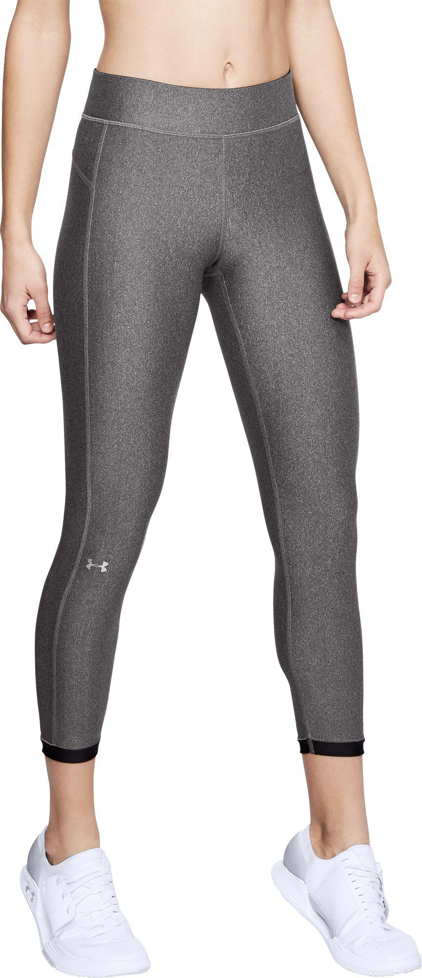 97bb02907efe1 Lyst - Under Armour Heatgear Armour Ankle Crop Leggings in Gray