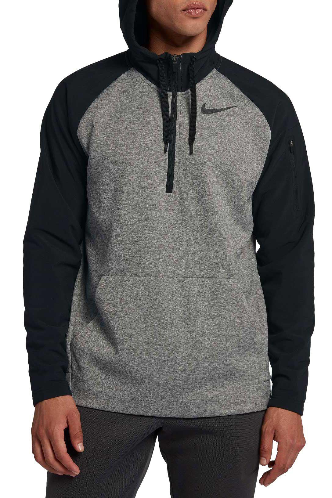 723381debf9 Lyst - Nike Therma Utility Fleece 1 4 Zip Pullover in Gray for Men