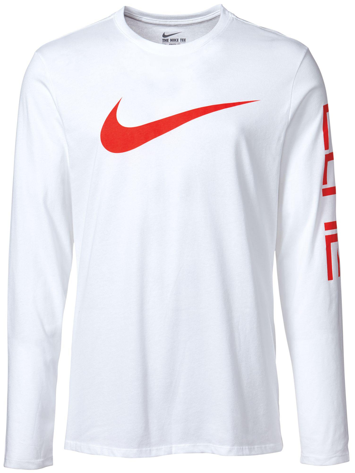 2ee716ba839 Nike Elite Long Sleeve Basketball Shirt in White for Men - Lyst