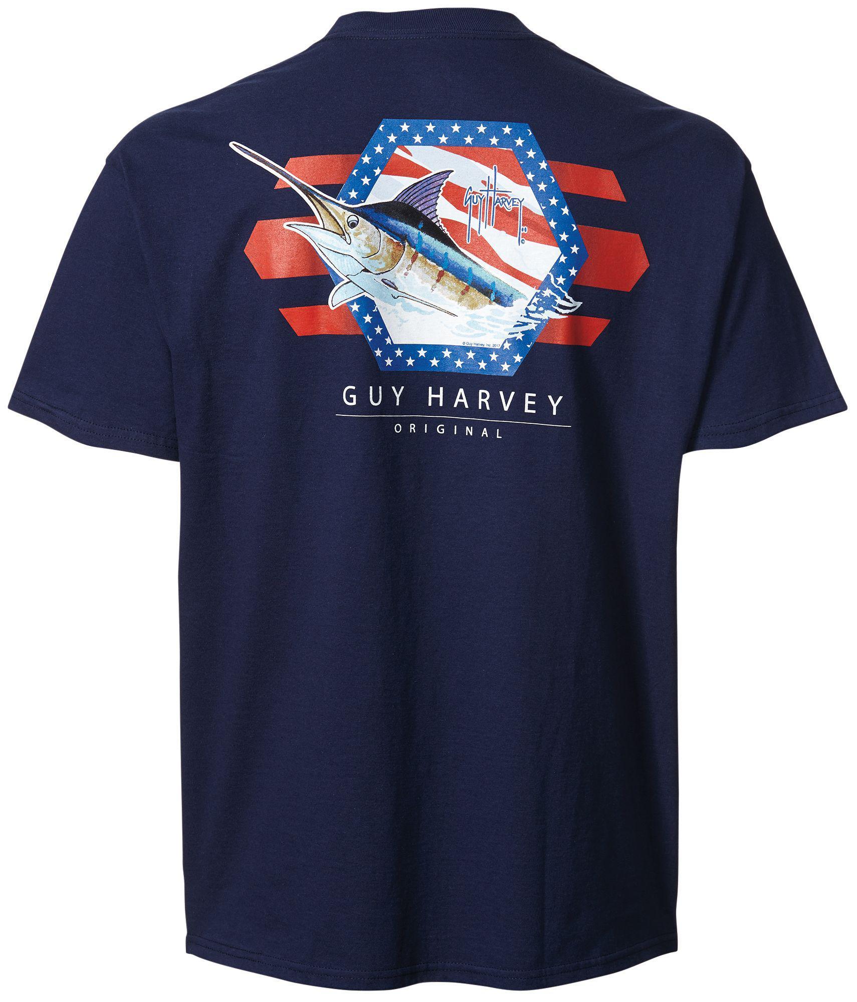 1bfcbe8bd51b Guy Harvey - Blue Resolution Short Sleeve T-shirt for Men - Lyst. View  fullscreen