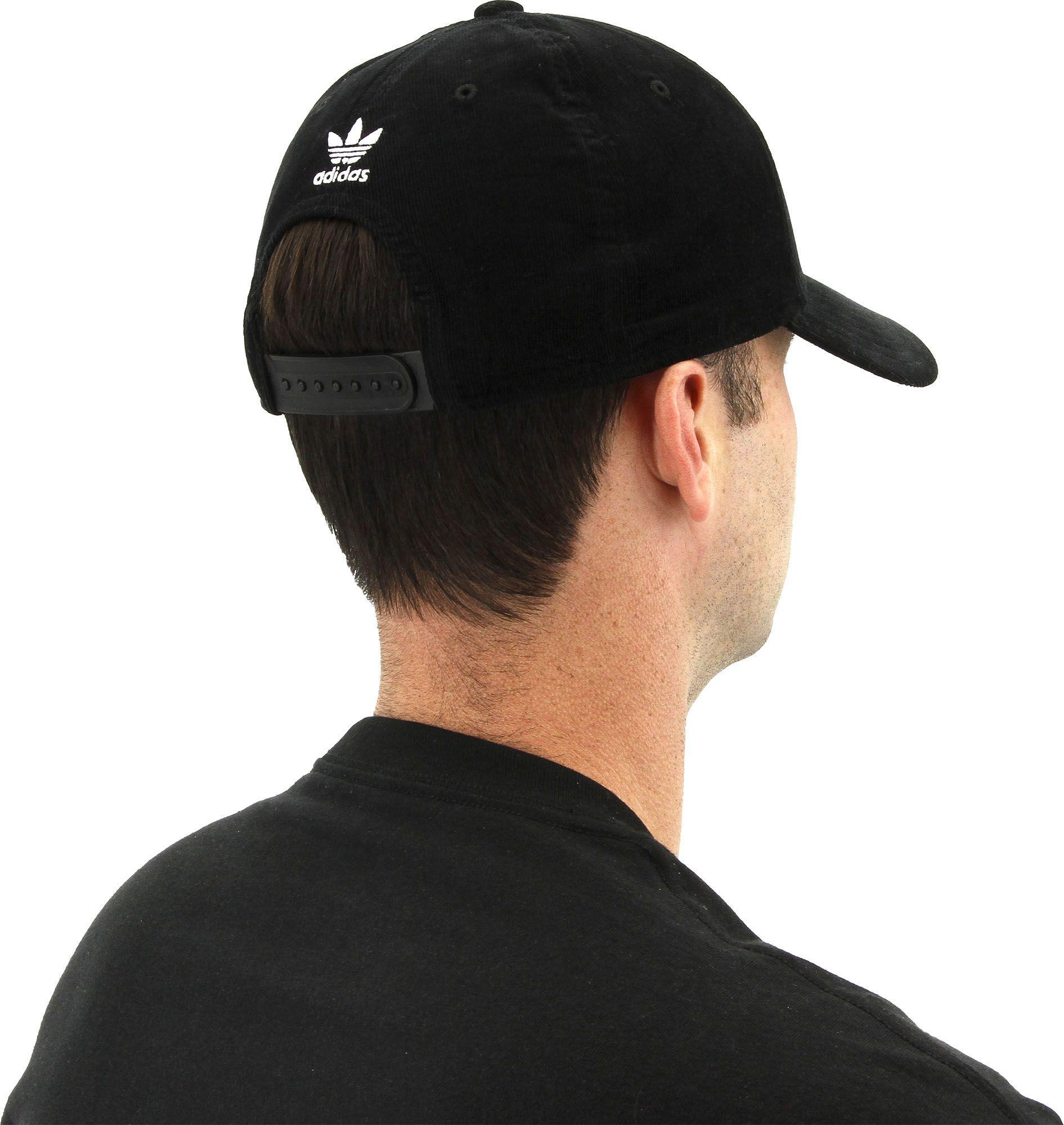046bcc3024981 ... caps sports outdoors tibs 3c2ef 40719  low cost lyst adidas originals  trefoil plus precurve hat in black for men d2f90 63f0e