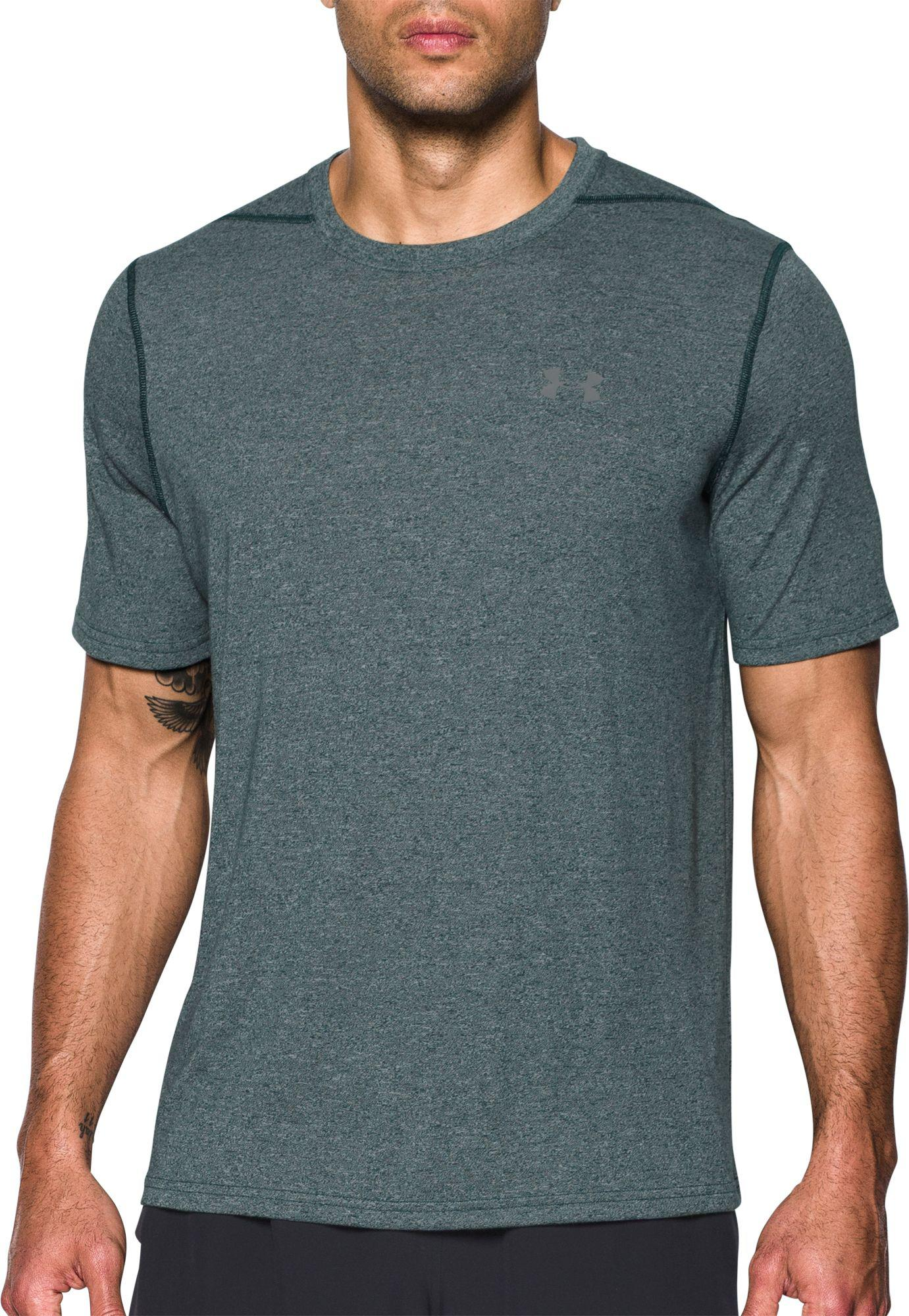 1d5af20e Under Armour - Green Threadborne Siro Heather Print T-shirt for Men - Lyst