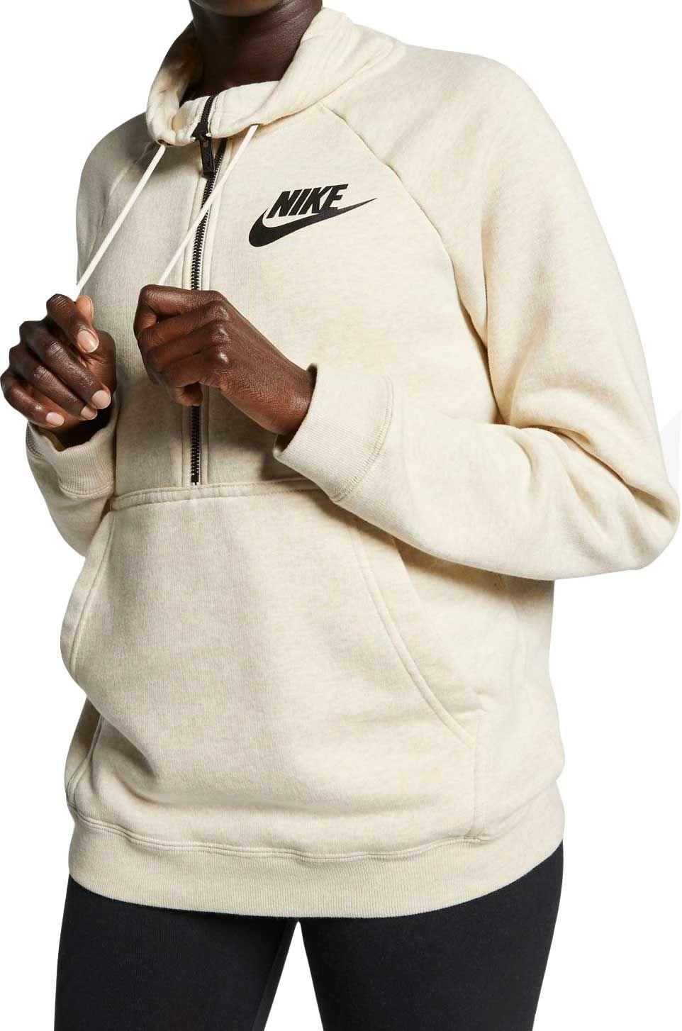 6e196862b31d Lyst - Nike Sportswear Rally Half-zip Sweatshirt in Natural