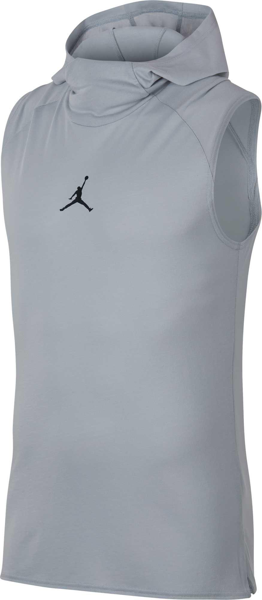 810a92e5cc7539 Lyst - Nike Jordan Dry 23 Alpha Hooded Sleeveless Tank Top in Gray ...
