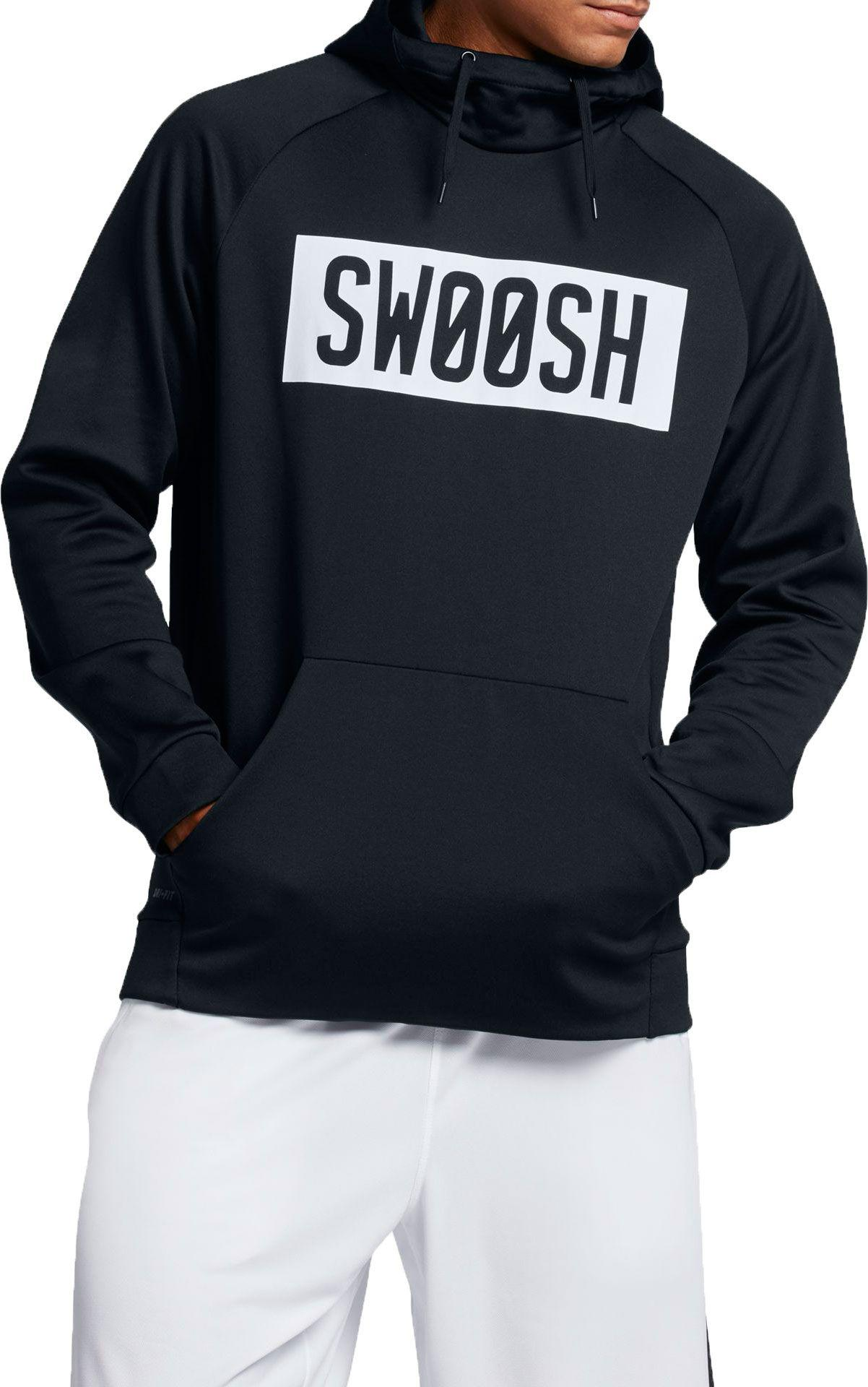 5c7375d4c9 Lyst - Nike Therma Bar Swoosh Hoodie in Black for Men