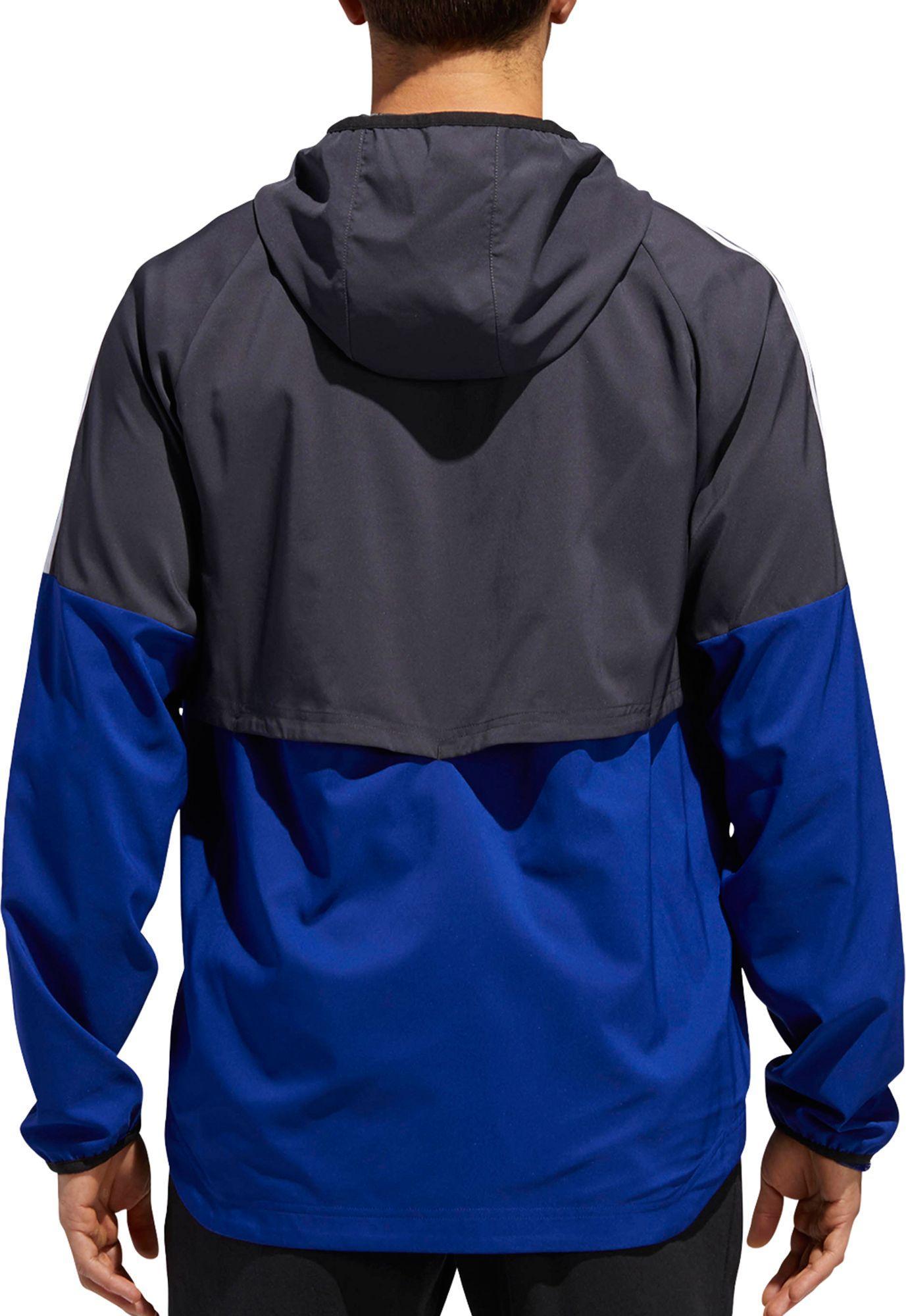 fa9c5319ce58 Adidas - Blue Sport Id 3-stripe Windbreaker Jacket for Men - Lyst. View  fullscreen