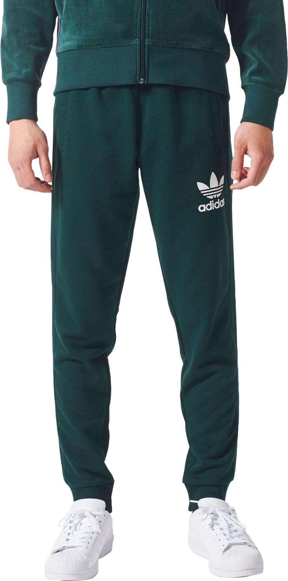 5a7629b3f54b Lyst - adidas Originals 3-stripes French Terry Sweat Pants in Green ...