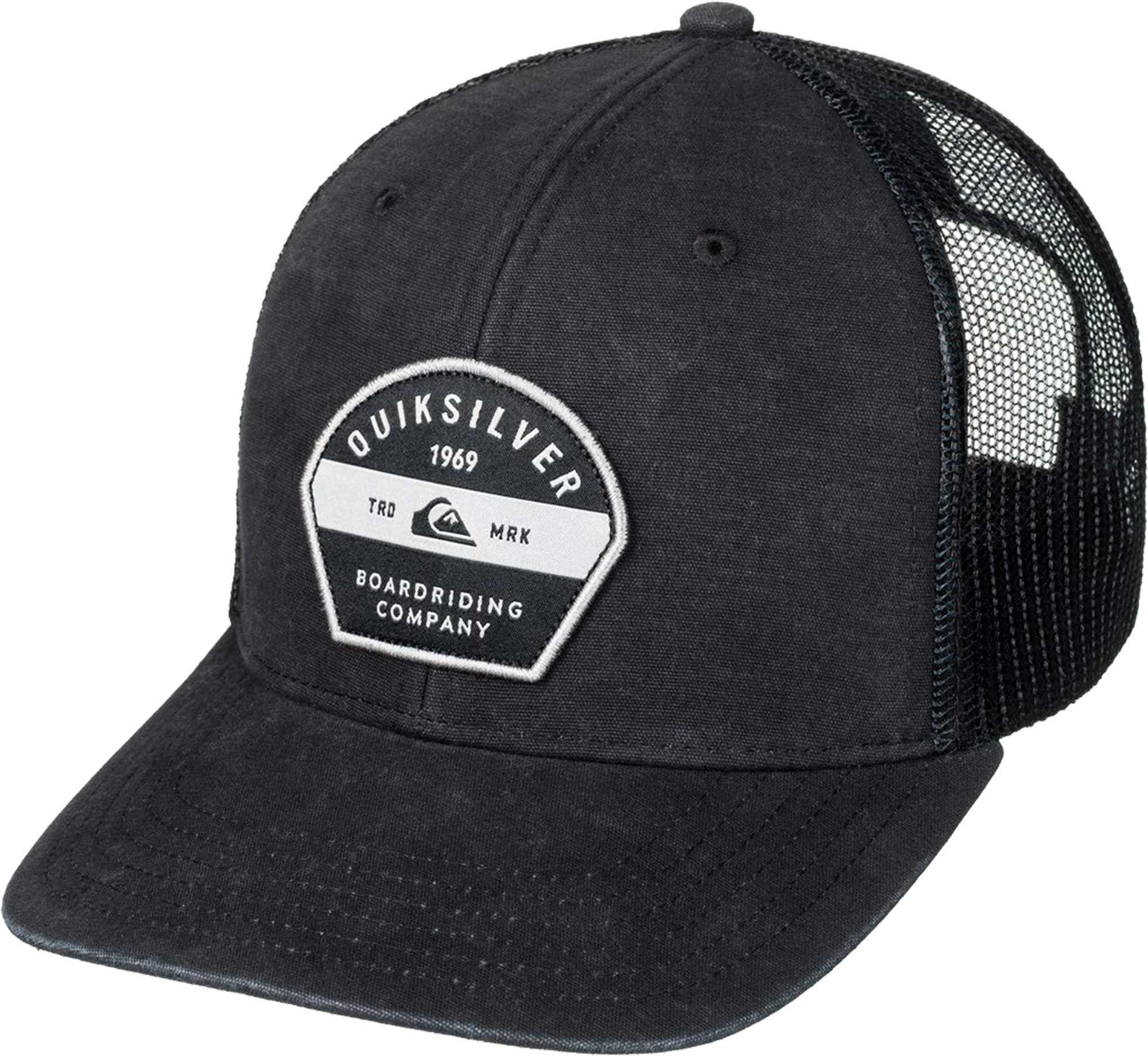 finest selection dc973 efff5 ... italy lyst quiksilver quicksilver silver lining trucker hat in black  for men 64e93 4af08