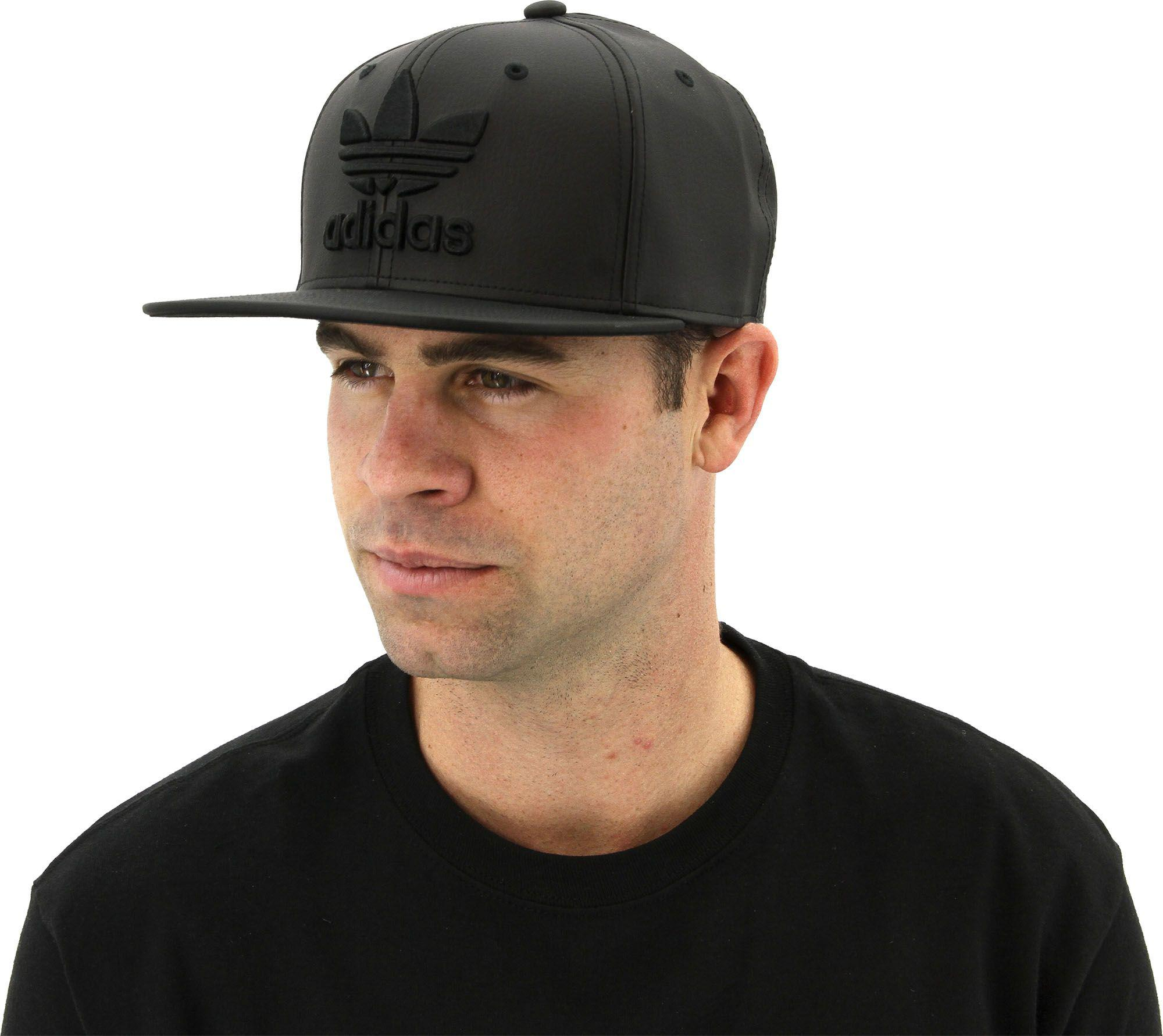 Lyst - adidas Originals Trefoil Plus Snapback Hat in Black for Men a1f21e5ebc7