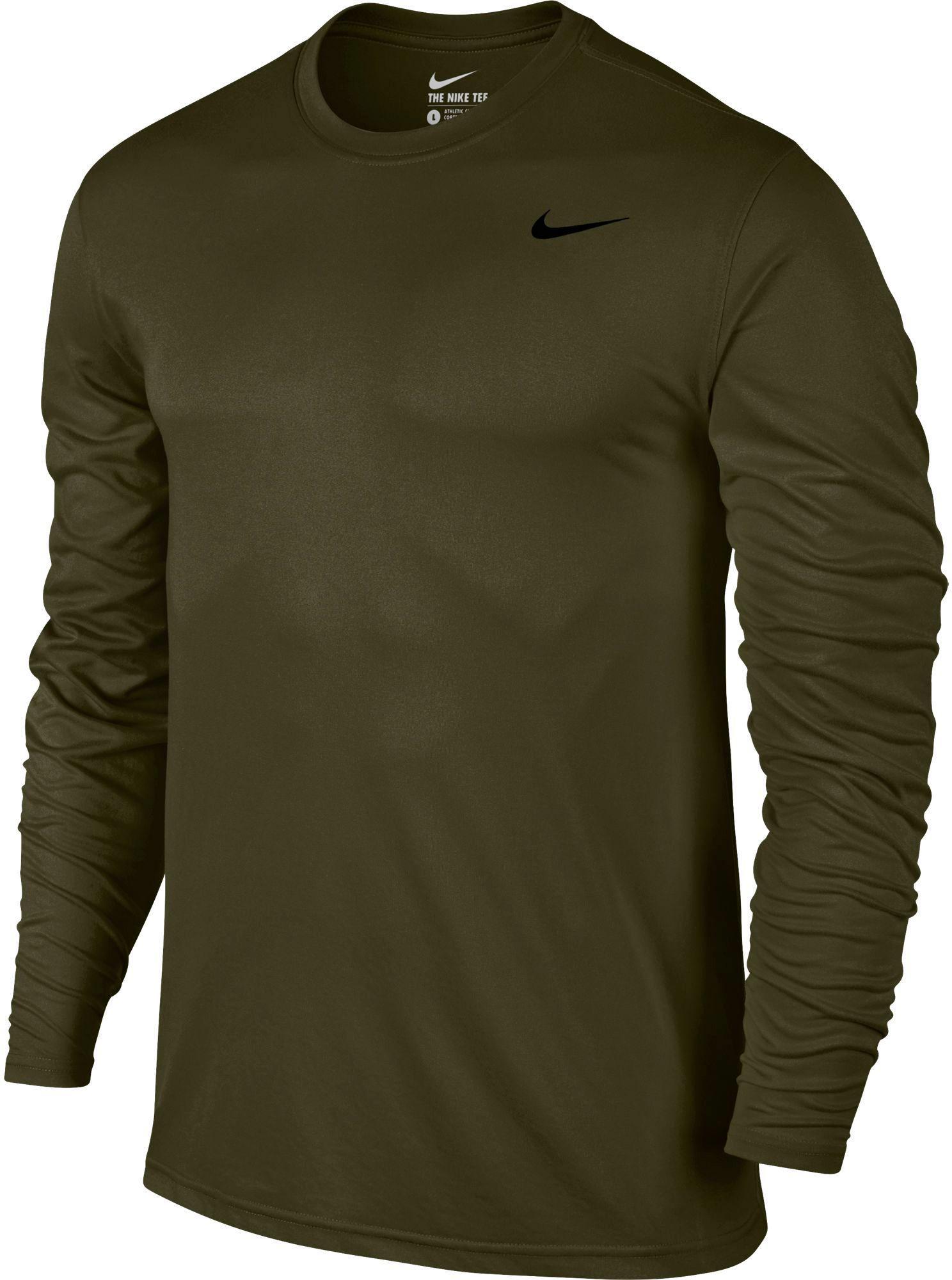 14359e74 Lyst - Nike Legend Long Sleeve Shirt in Green for Men