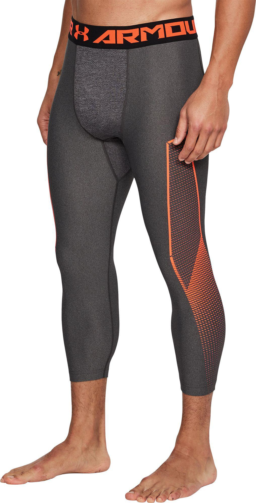 e9db3e7fc40fc Under Armour - Gray Heatgear Armour Graphic 3 4 Length Tights for Men - Lyst