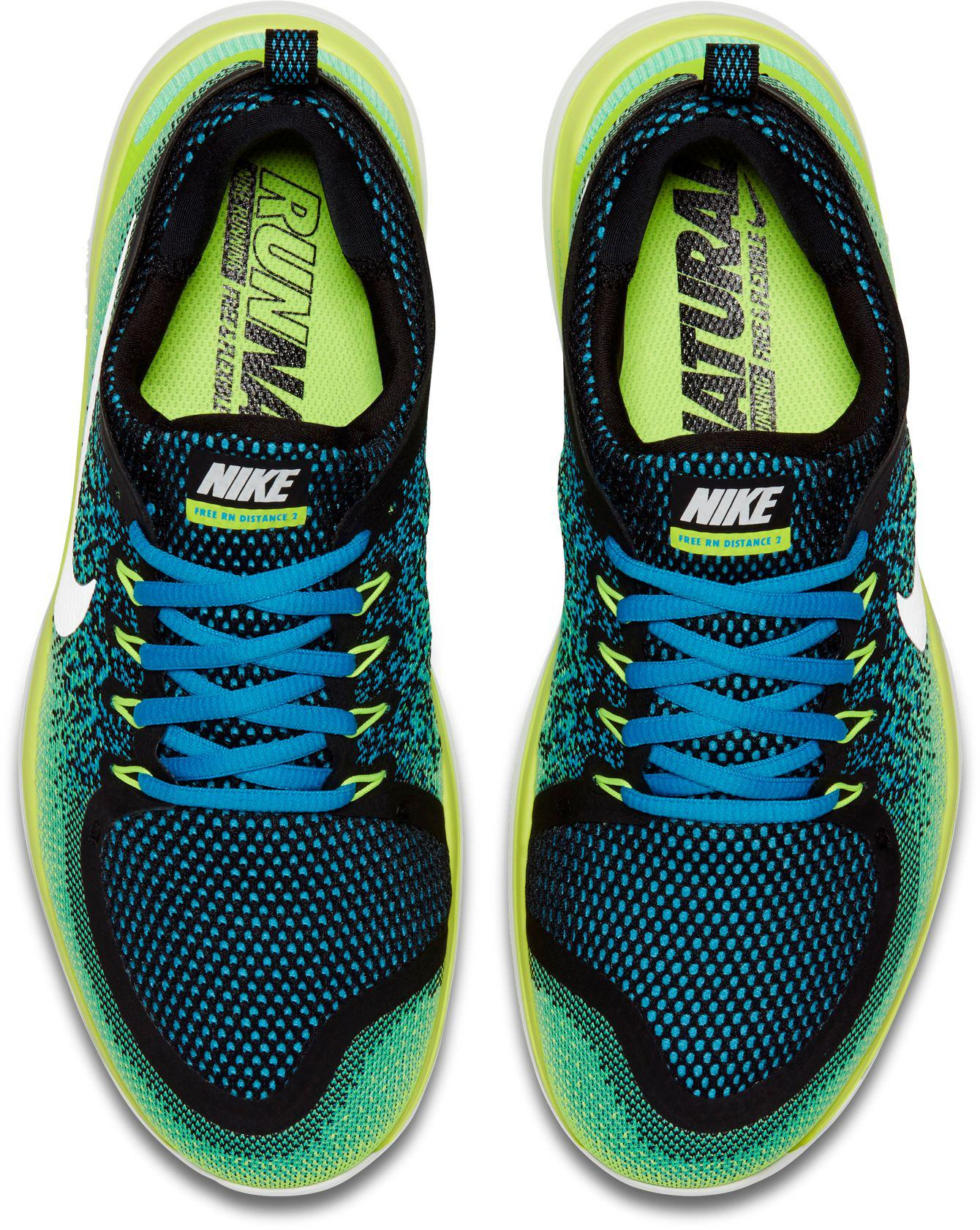 2b39654a04b6 Lyst - Nike Free Rn Distance 2 Running Shoes in Green for Men