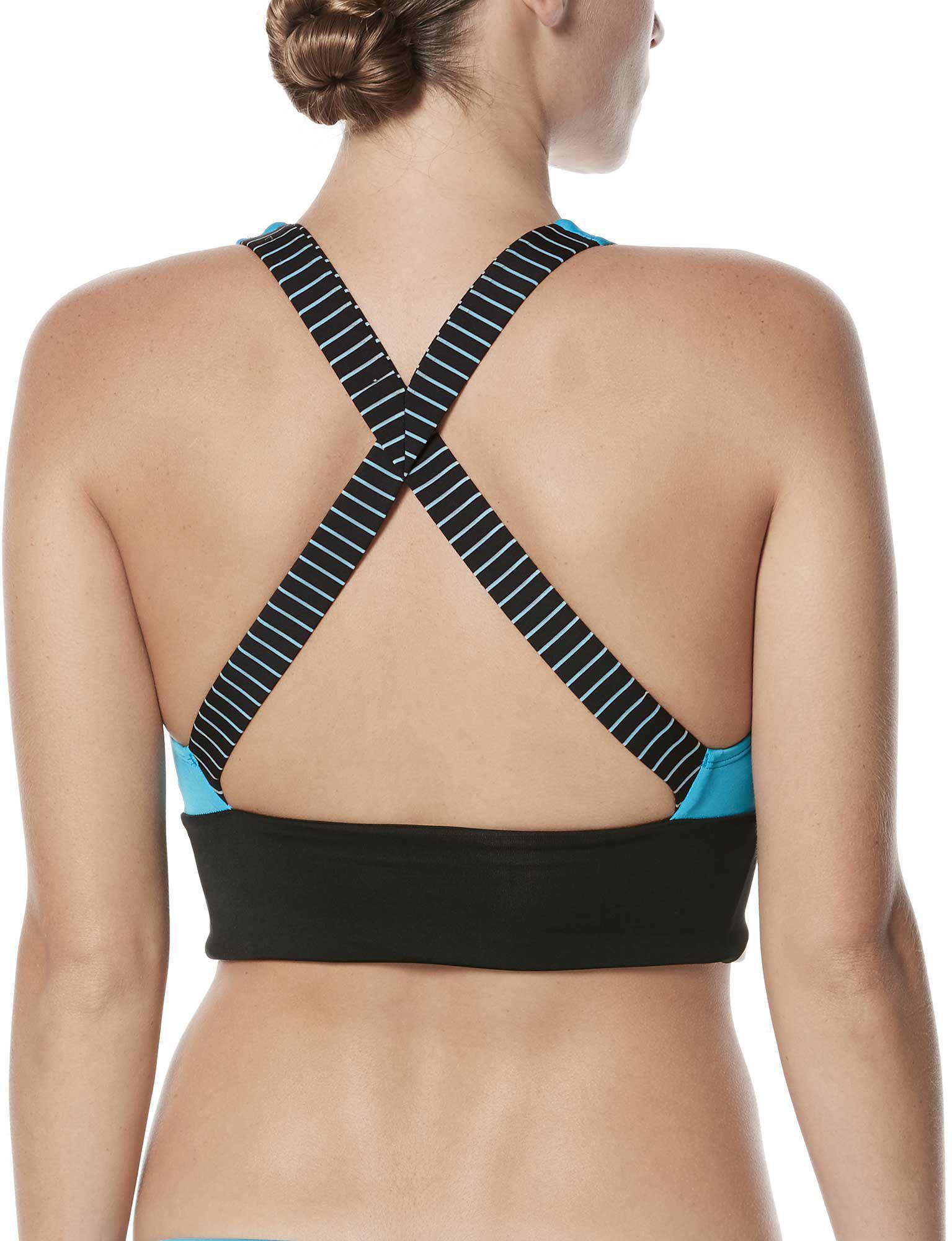 94aeba3503eca4 Lyst - Nike Color Surge Prism Crossback Midkini in Blue