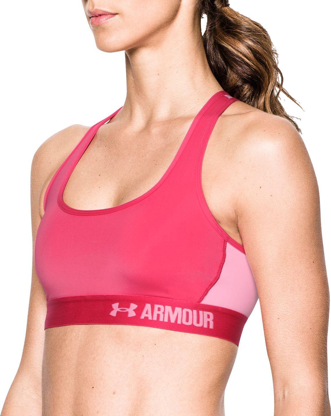 c9ed51a90f Under Armour - 1276503 Heatgear Armour Crossback Mid-impact Sports Bra  (pink Sky