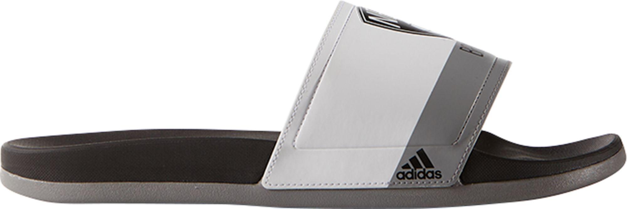 adidas. Men's Gray Adilette Brooklyn Nets Slides
