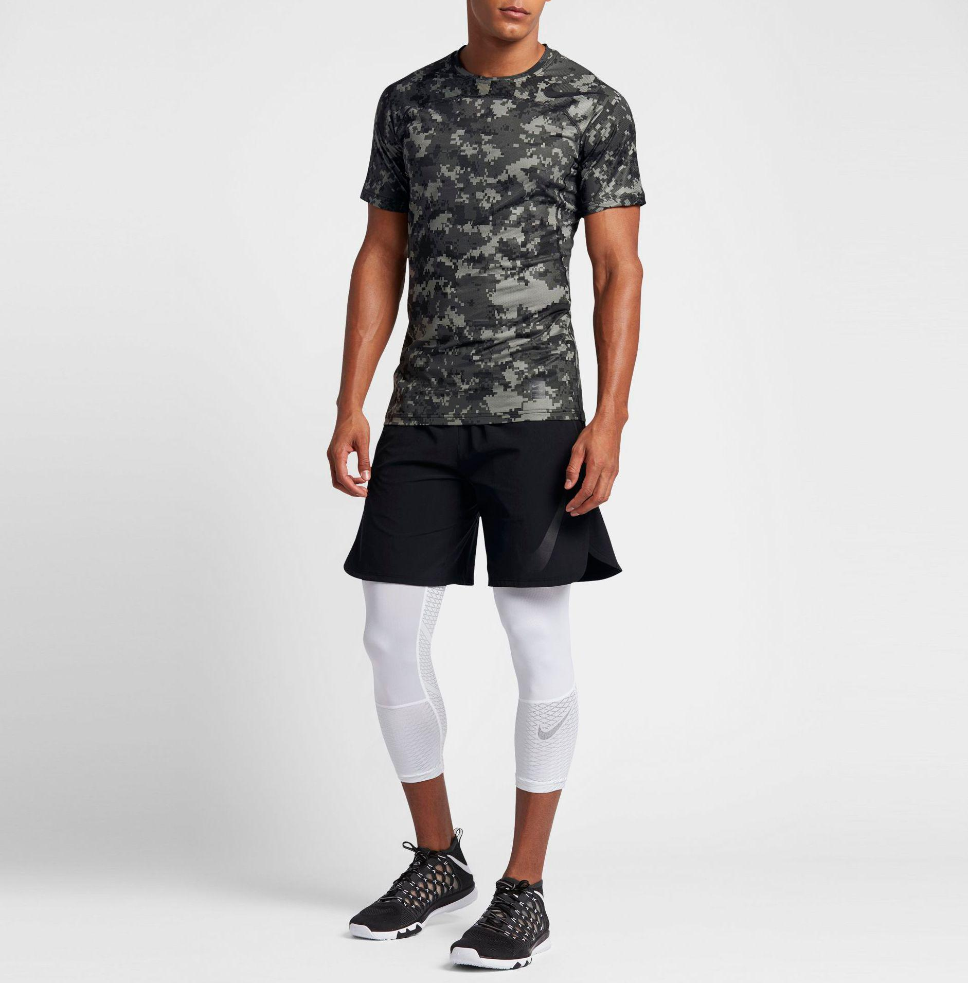 80f3f8dd Nike Pro Hypercool Digi Camo Printed Fitted T-shirt in Black for Men ...
