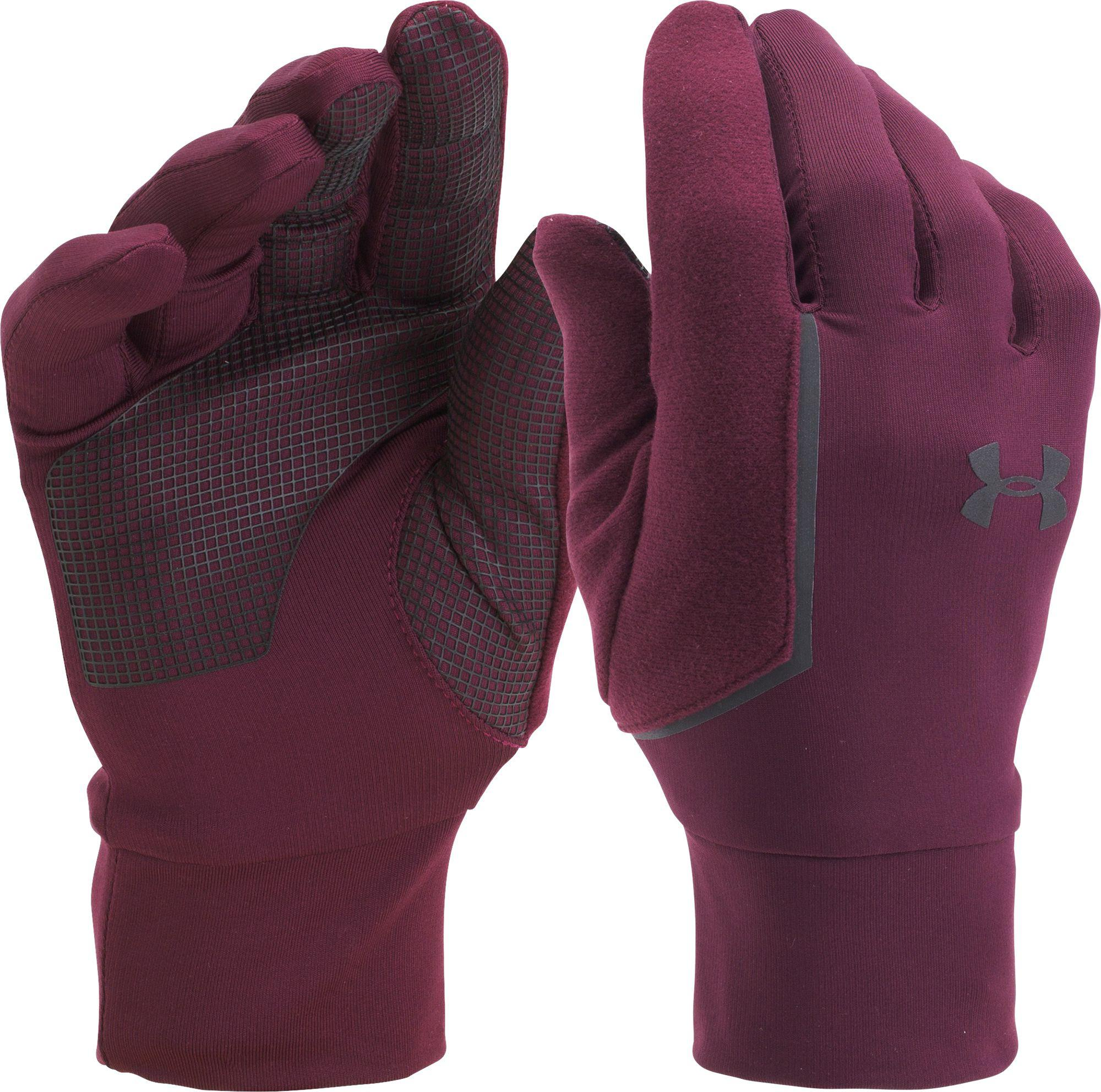 82aca0a6e4 Under Armour No Breaks Armour Liner Gloves in Red for Men - Save 25 ...