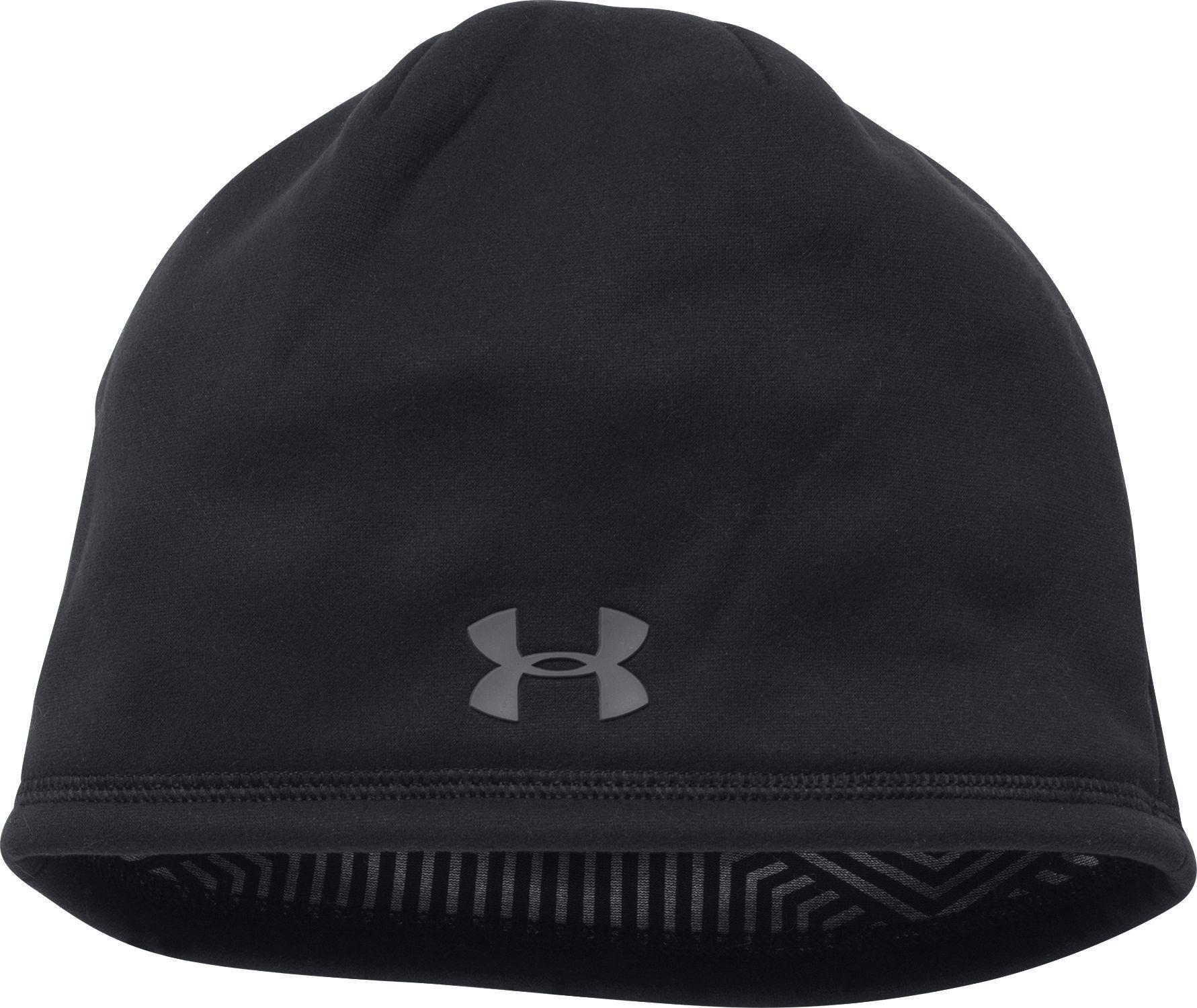 e346115aa40 ... australia under armour black coldgear infrared elements storm 2.0 beanie  for men lyst 08bc7 f664f