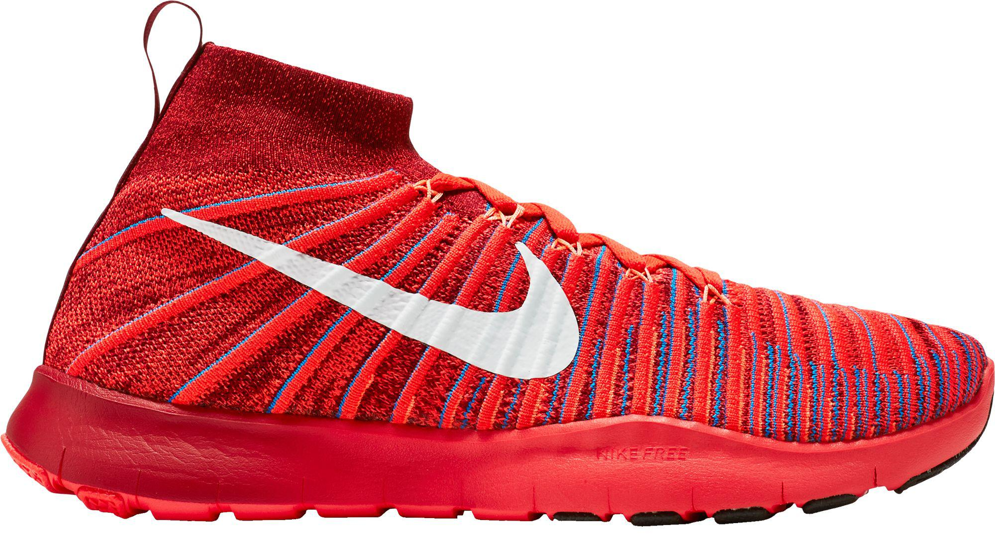 9554d58ecf648 Lyst - Nike Free Train Force Flyknit Training Shoes in Red for Men