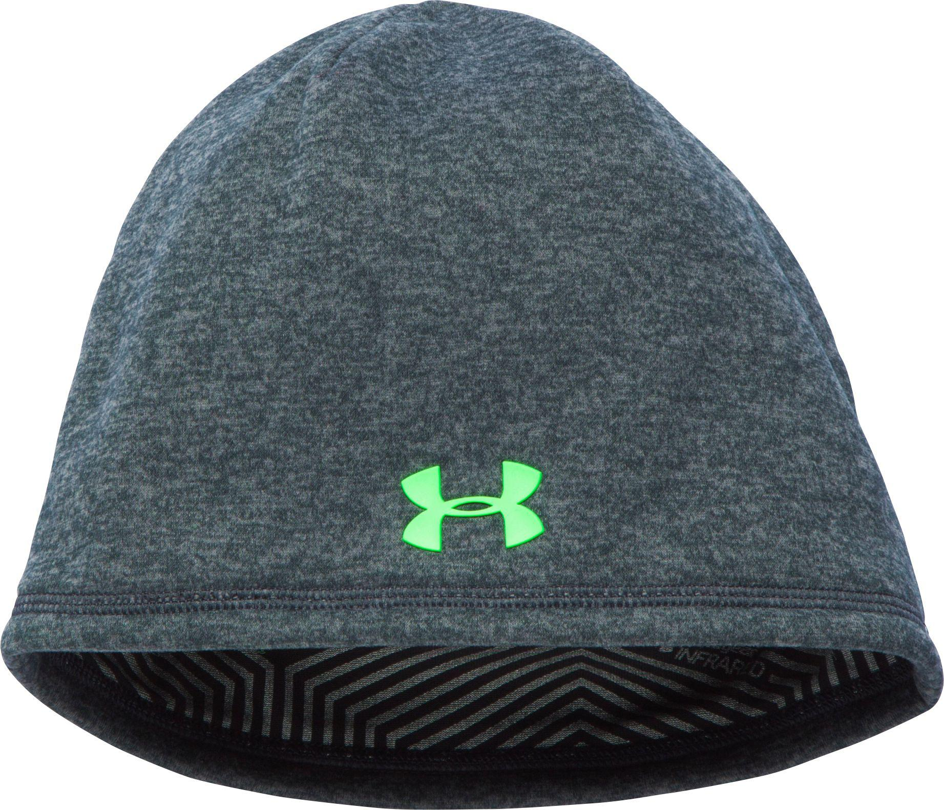 c50ef7249c1 Under Armour - Green Coldgear Infrared Elements Storm 2.0 Beanie for Men -  Lyst