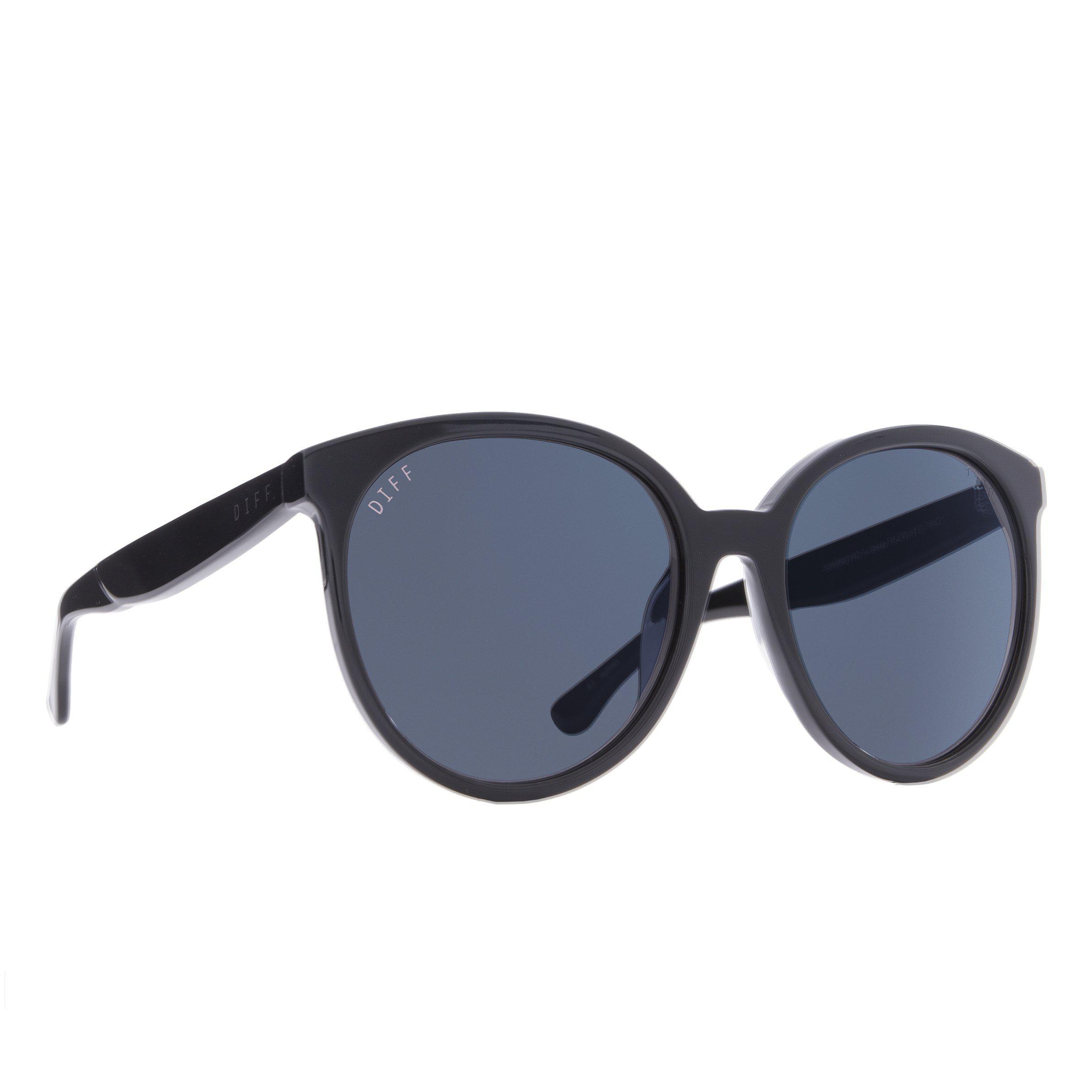 87464fa3d0 Lyst - DIFF Cosmo - Black + Dark Smoke + Polarized in Blue