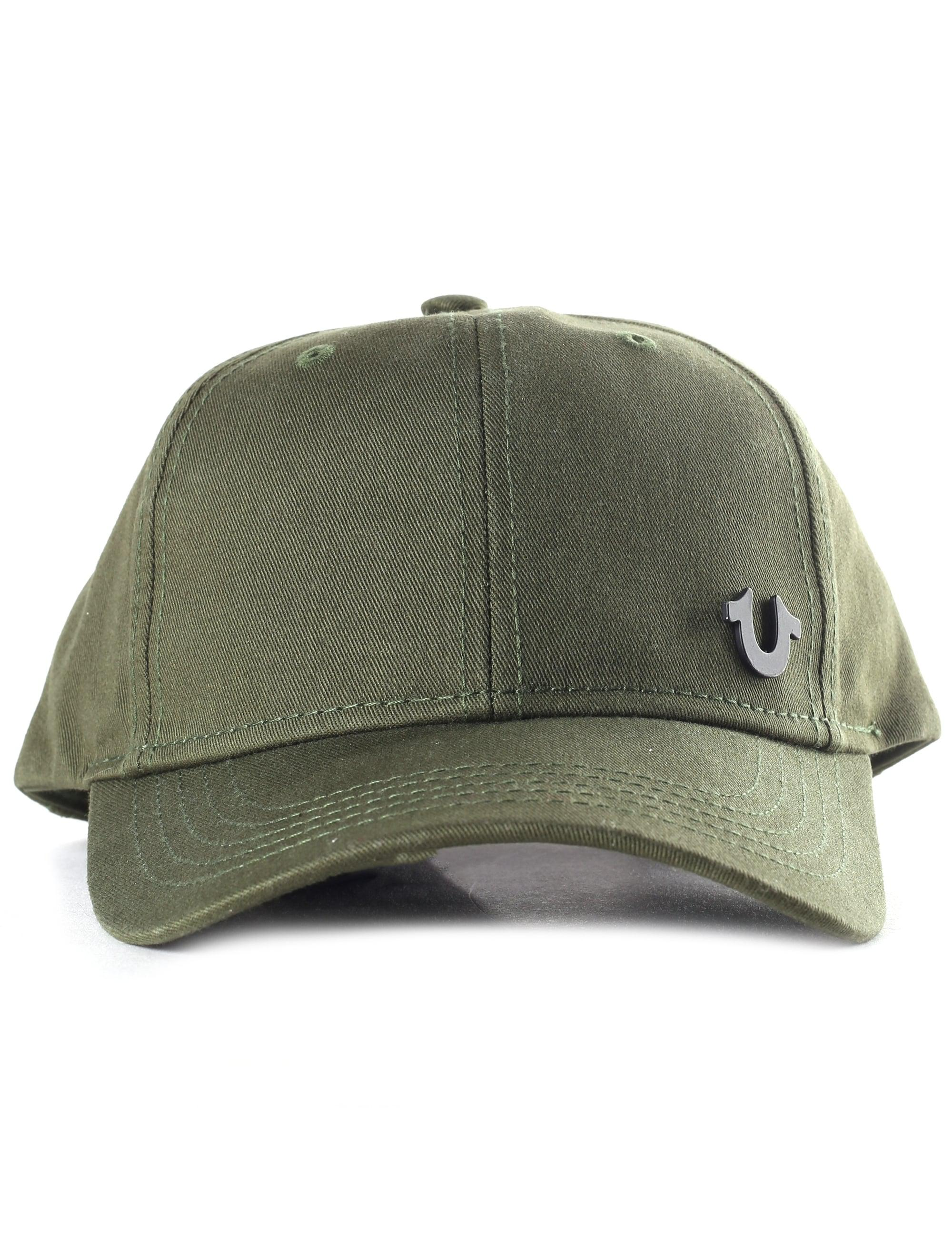 3b924f54031 True Religion Core Logo Men s Baseball Cap Military black in Green ...