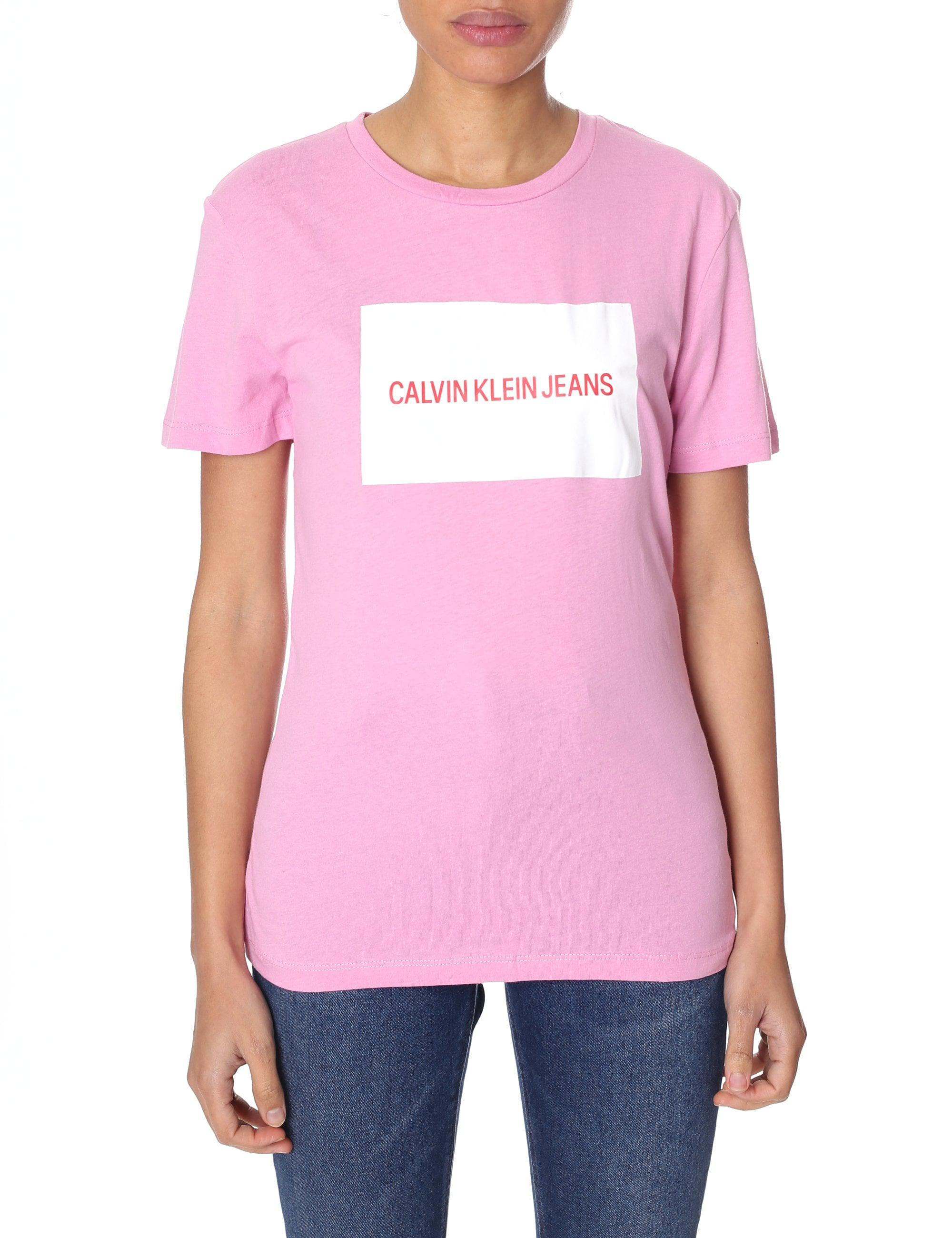 14529718e6fe Calvin Klein Institutional Box Logo Tee in Pink - Lyst