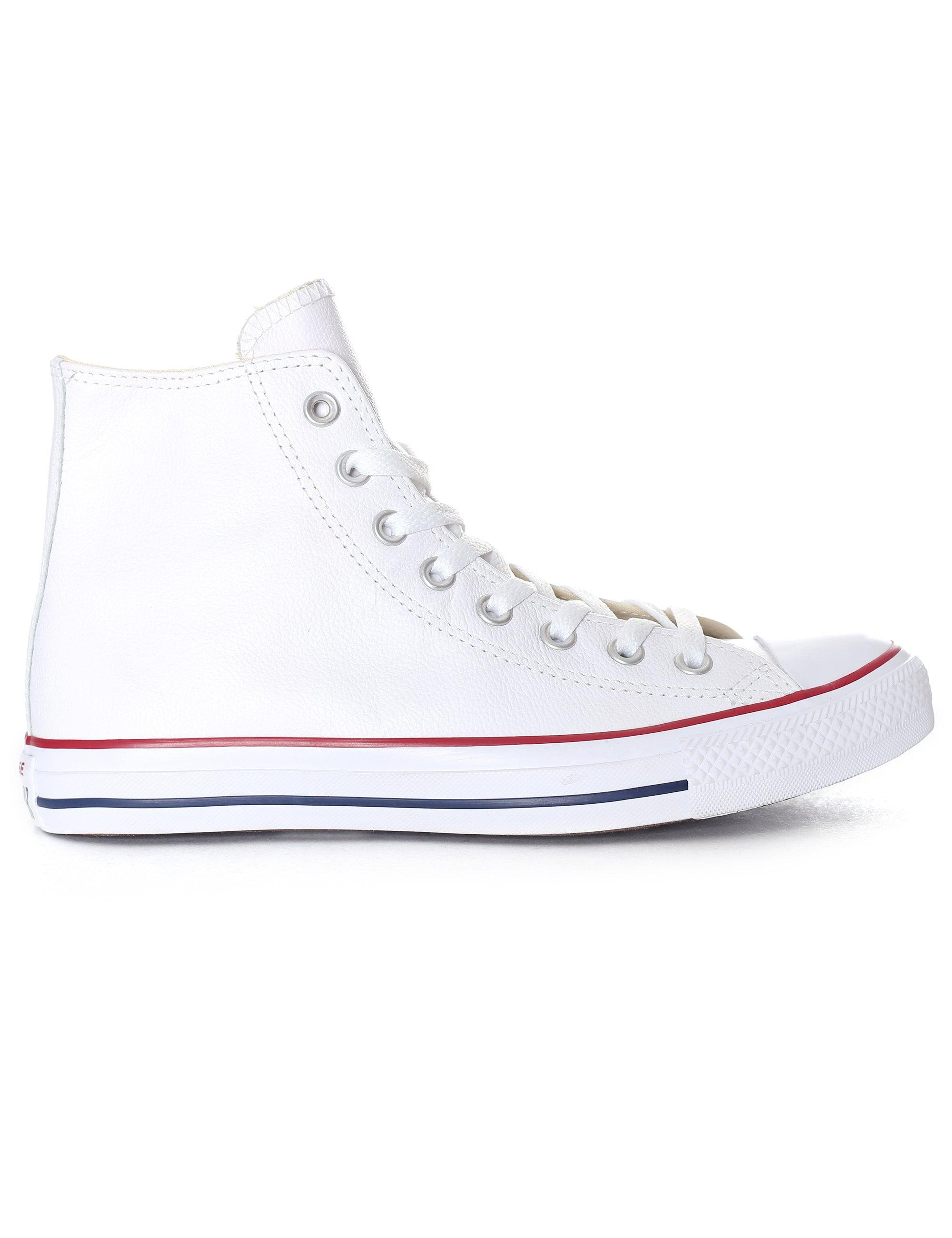 3c48407019e9 Converse - White Chuck Taylor All Star Leather Sneaker for Men - Lyst. View  fullscreen