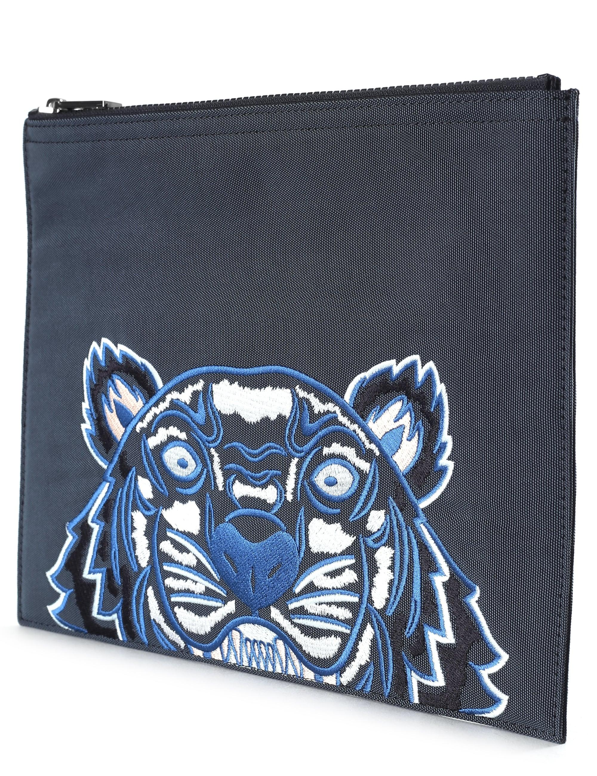 7db1ce4d6 KENZO A4 Men's Embroidered Tiger Clutch Dark Grey in Gray for Men - Save 9%  - Lyst