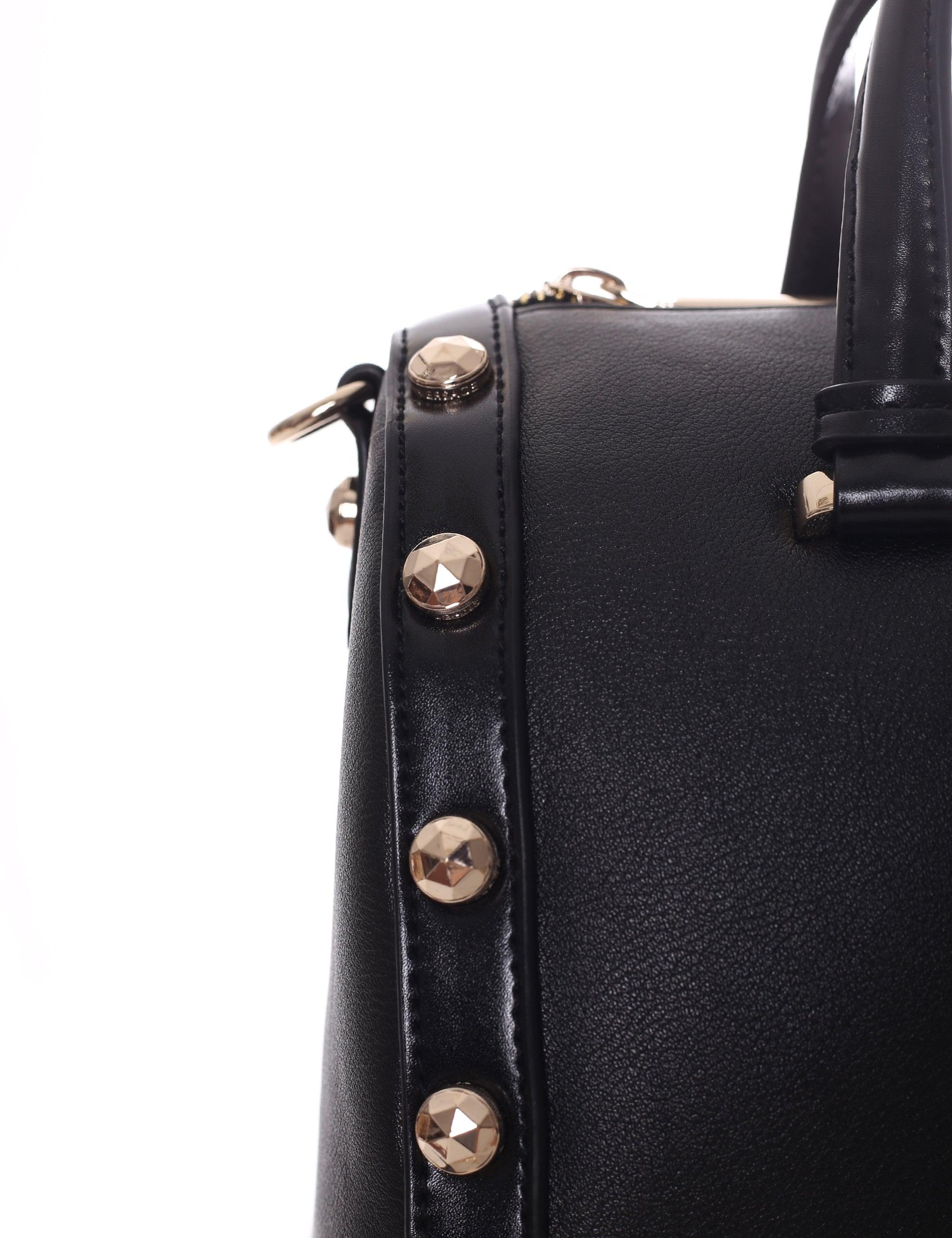 75bed4c4c88d7 Versace Jeans Large Stud Bowler Bag in Black - Lyst
