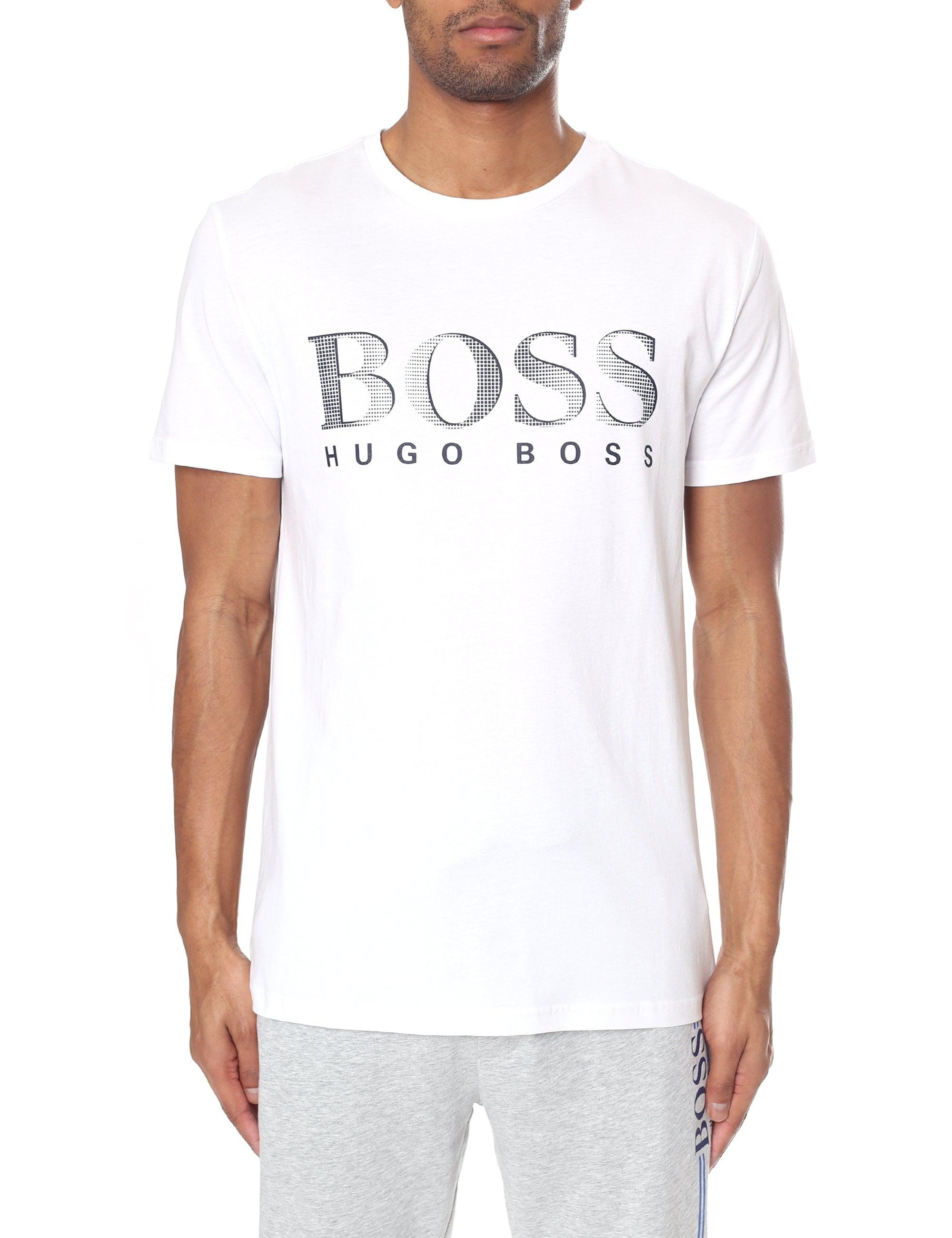 f107864b BOSS by Hugo Boss. Men's Natural Regular Fit Upf Protection Short Sleeve Tee