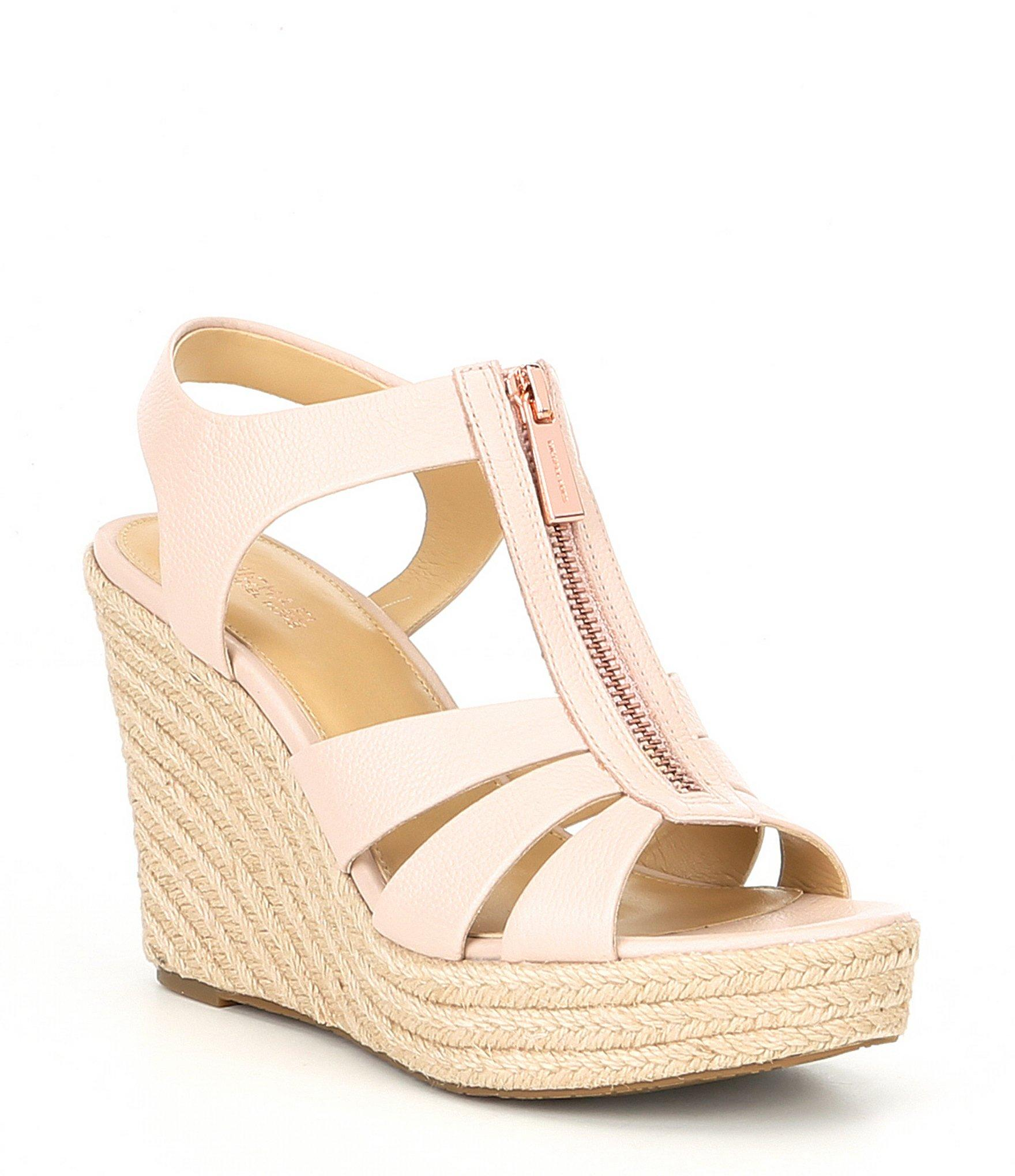985b026cdcc Lyst - Michael Michael Kors Berkley Espadrille Wedge Sandals in Pink