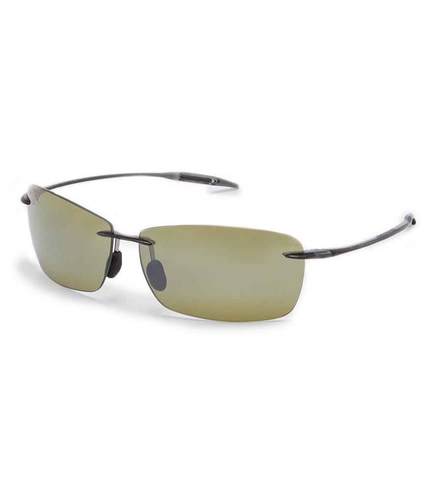 40c0f1bf83e Lyst - Maui Jim Lighthouse Polarized Rectangular Sport Sunglasses in ...