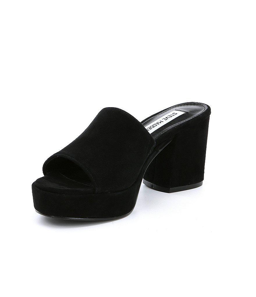 Relax Suede Platform Block Heel Dress Sandals 3722RKY